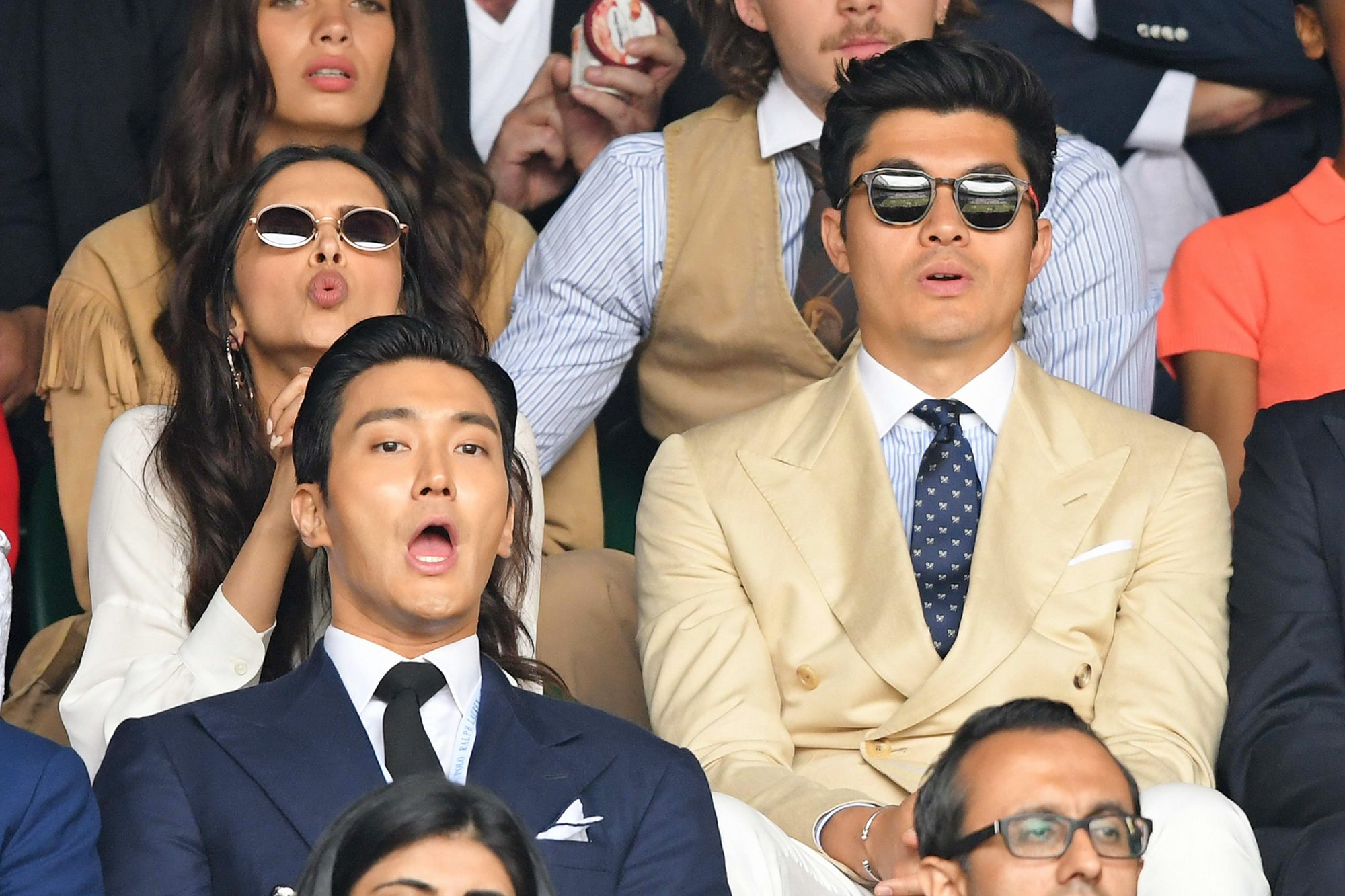 LONDON, ENGLAND - JULY 14: Henry Golding attends Men's Finals Day of the Wimbledon Tennis Championships at All England Lawn Tennis and Croquet Club on July 14, 2019 in London, England. (Photo by Karwai Tang/Getty Images) (Photo by Karwai Tang/Getty Images)