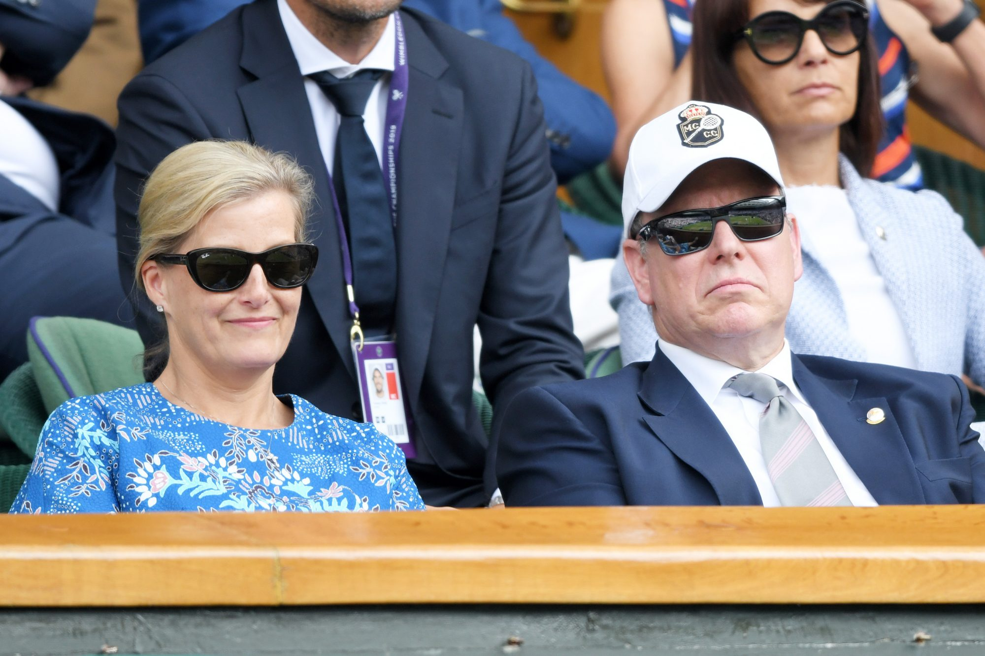 Wimbledon Sophie Countess of Wessex and Prince Albert II of Monaco