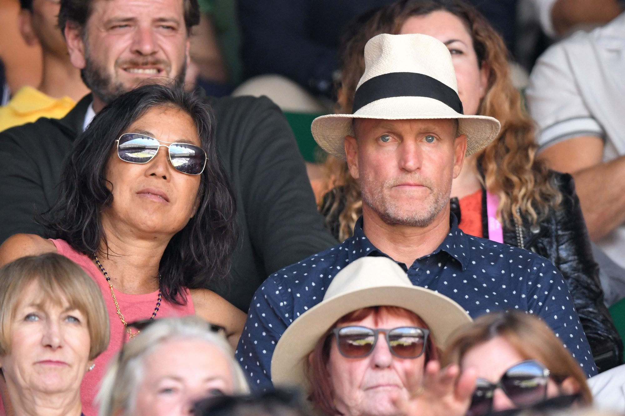 Laura Louie and Woody Harrelson