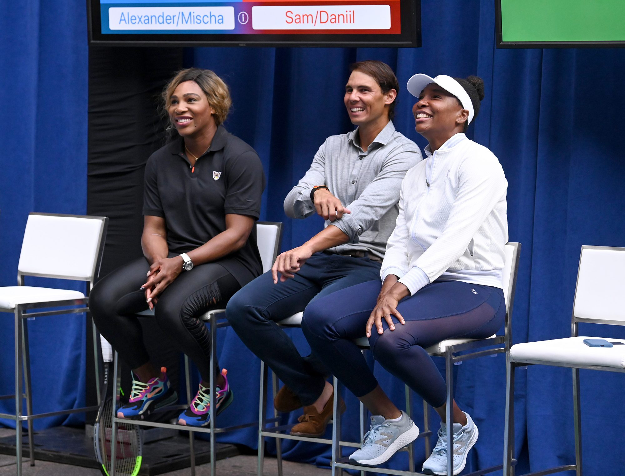 The Williams Sisters and Rafael Nadal