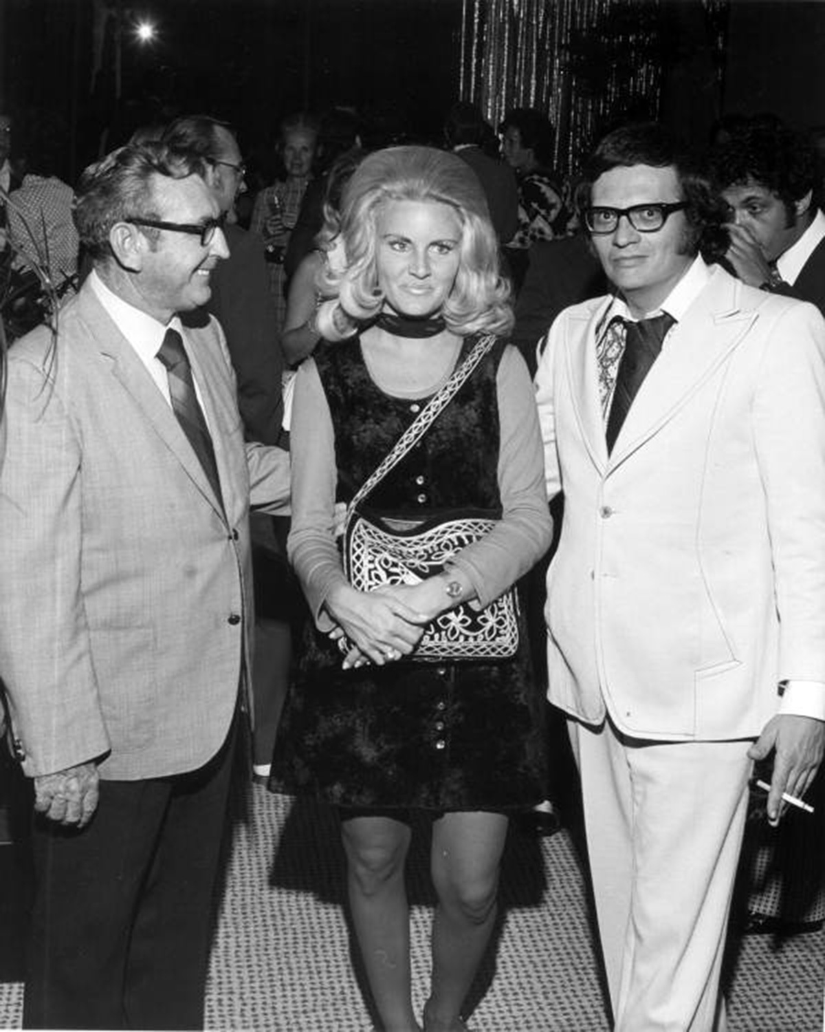 Alene Akins, former Playboy bunny, and Larry King