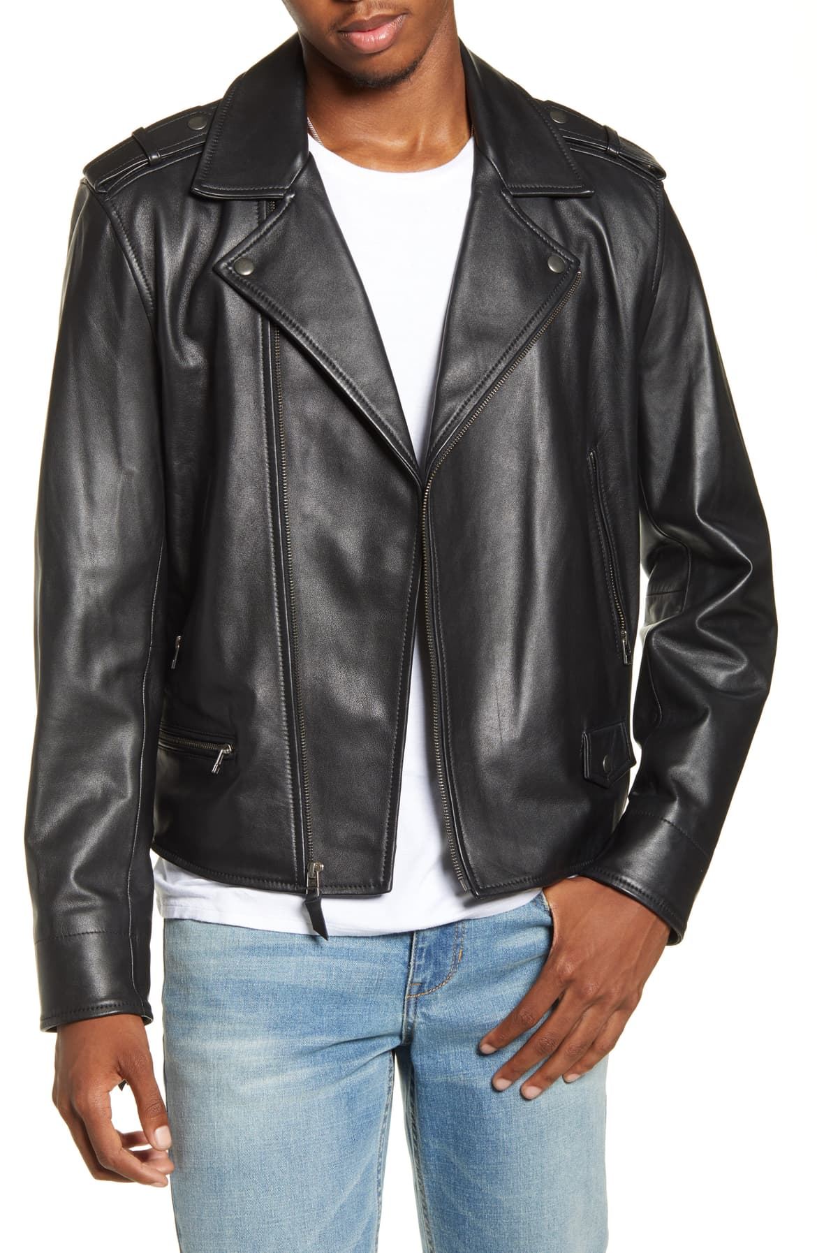 BP. x Alex Costa Men's Collection Launch Nordstrom Leather Jacket