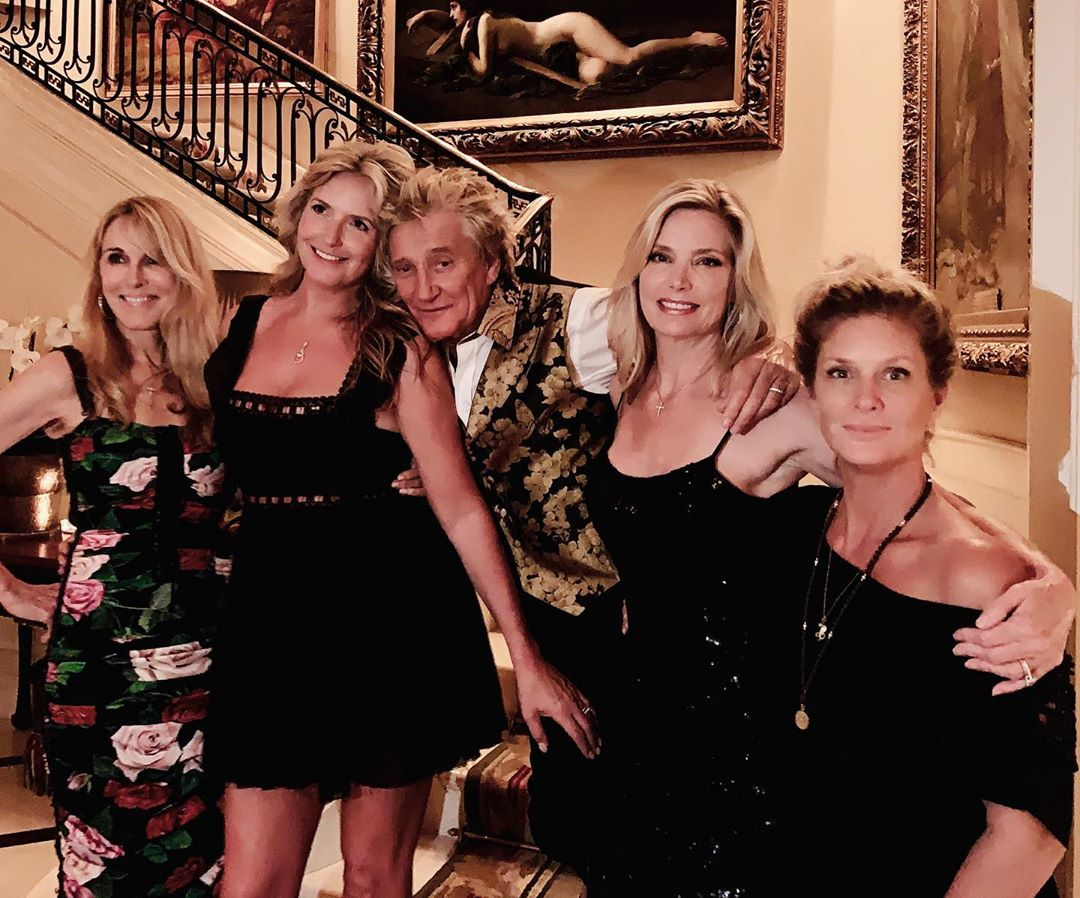 Rod Stewart and the mothers of his kids