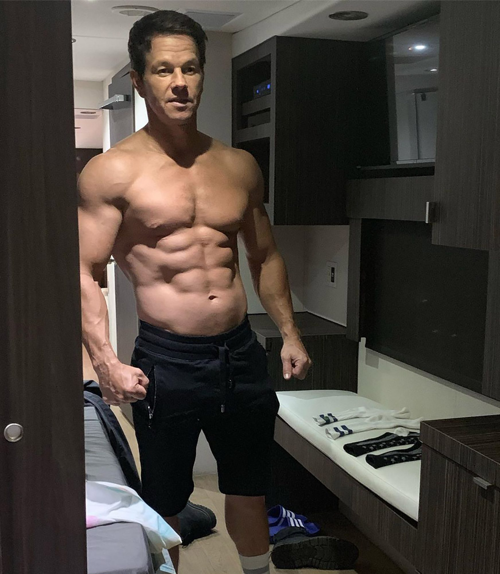 Mark Wahlberg Says Age Is Just A Number In Shirtless Photo People Com