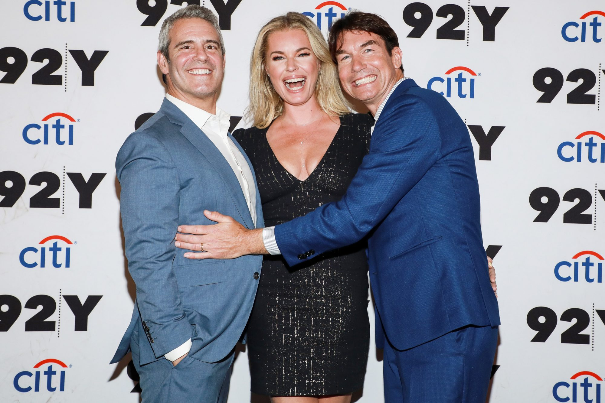 Andy Cohen, Rebecca Romijn and Jerry O'Connell