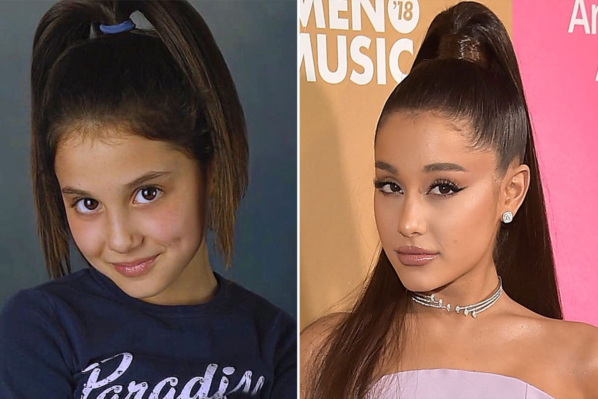 Ariana hair before and after