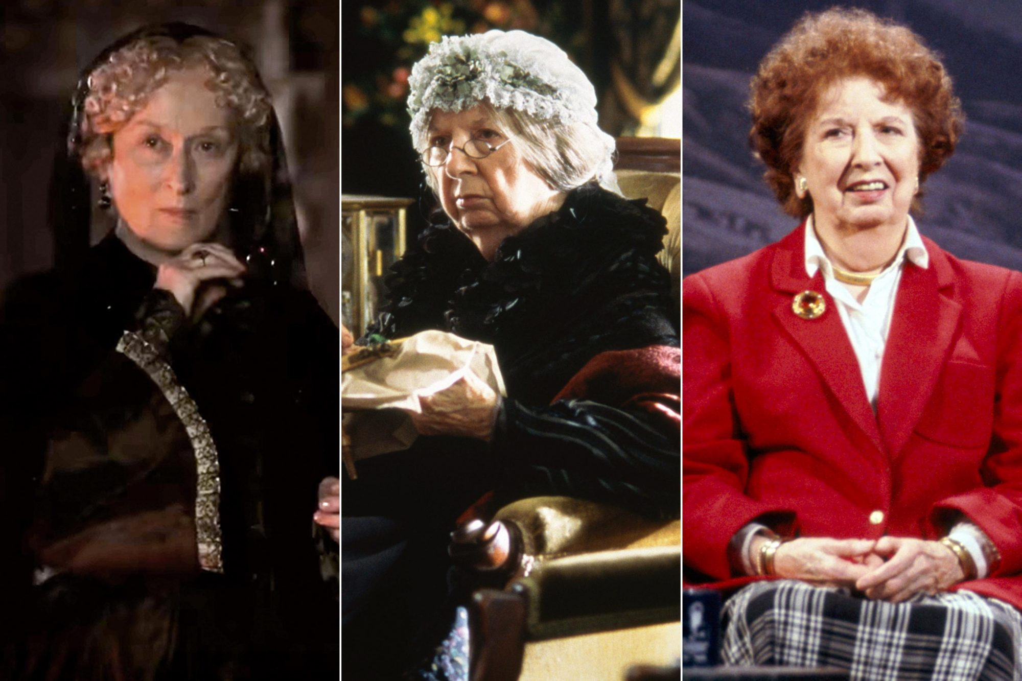 Meryl Streep, Mary Wickes and Lucile Watson as Aunt March