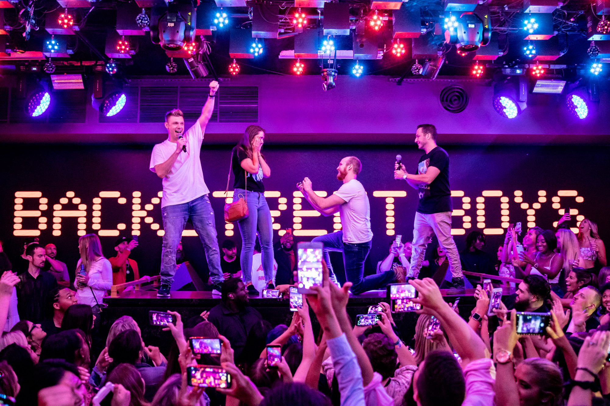 The Backstreet Boys' Nick Carter and Howie Dorough Help a Couple Get Engaged