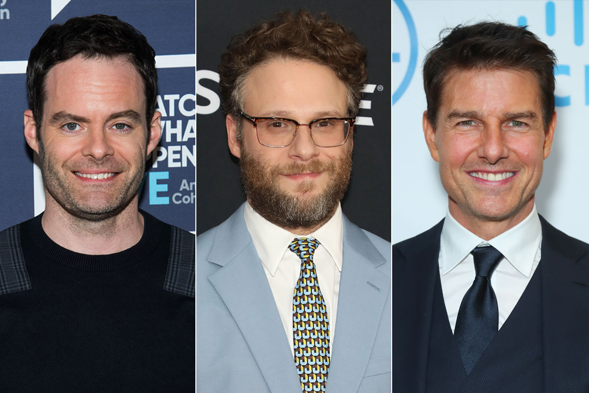 Bill Hader, Seth Rogen and Tom Cruise