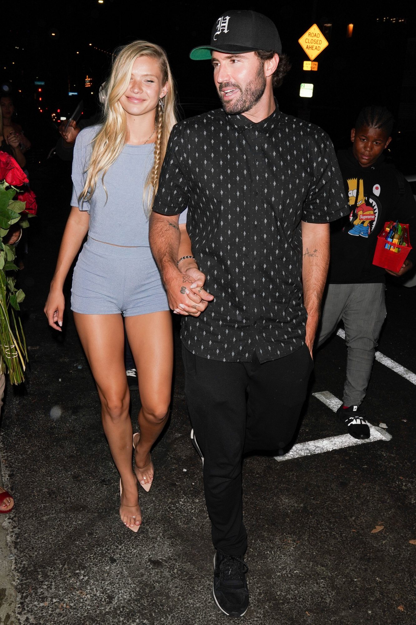 Brody Jenner and Josie canseco leave Tao for his birthday dinner