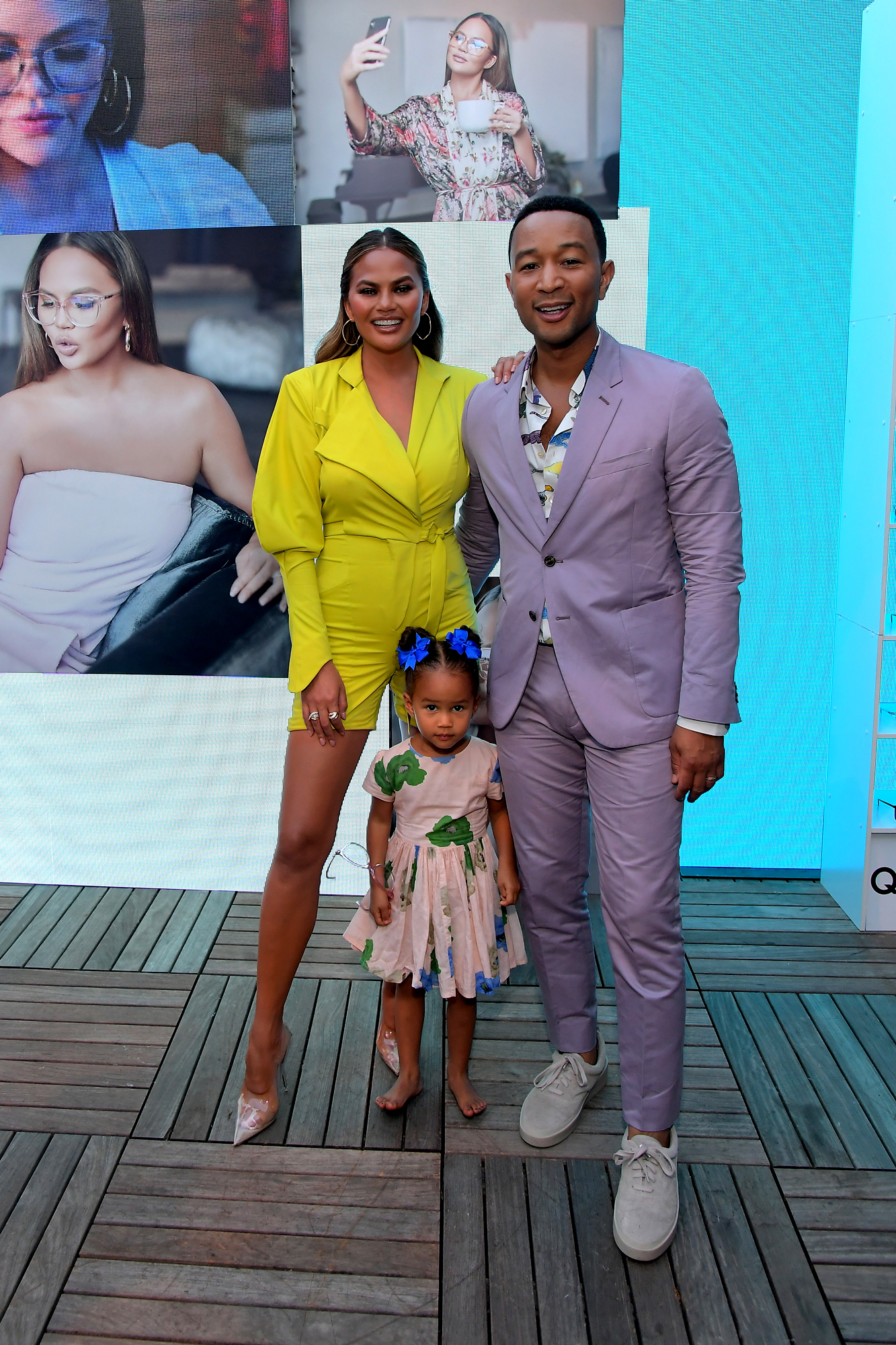 Chrissy Teigen, Luna Simone Stephens, and John Legend