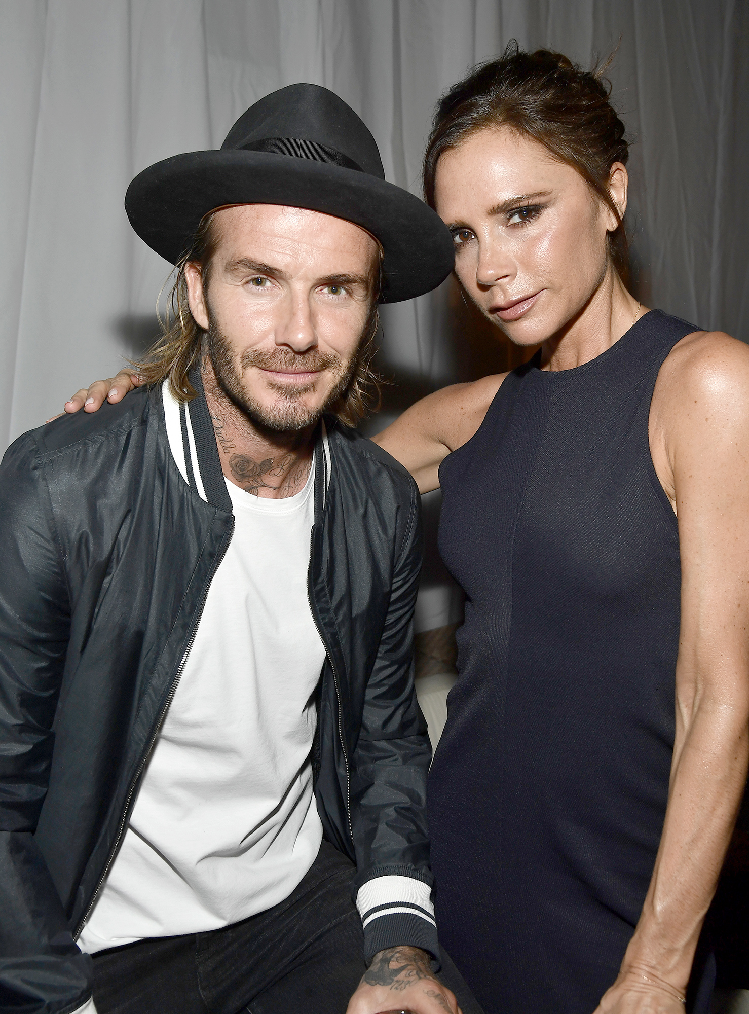David and Victoria Beckham and Eva Longoria Host The Grand Opening of the New Ken Paves Salon