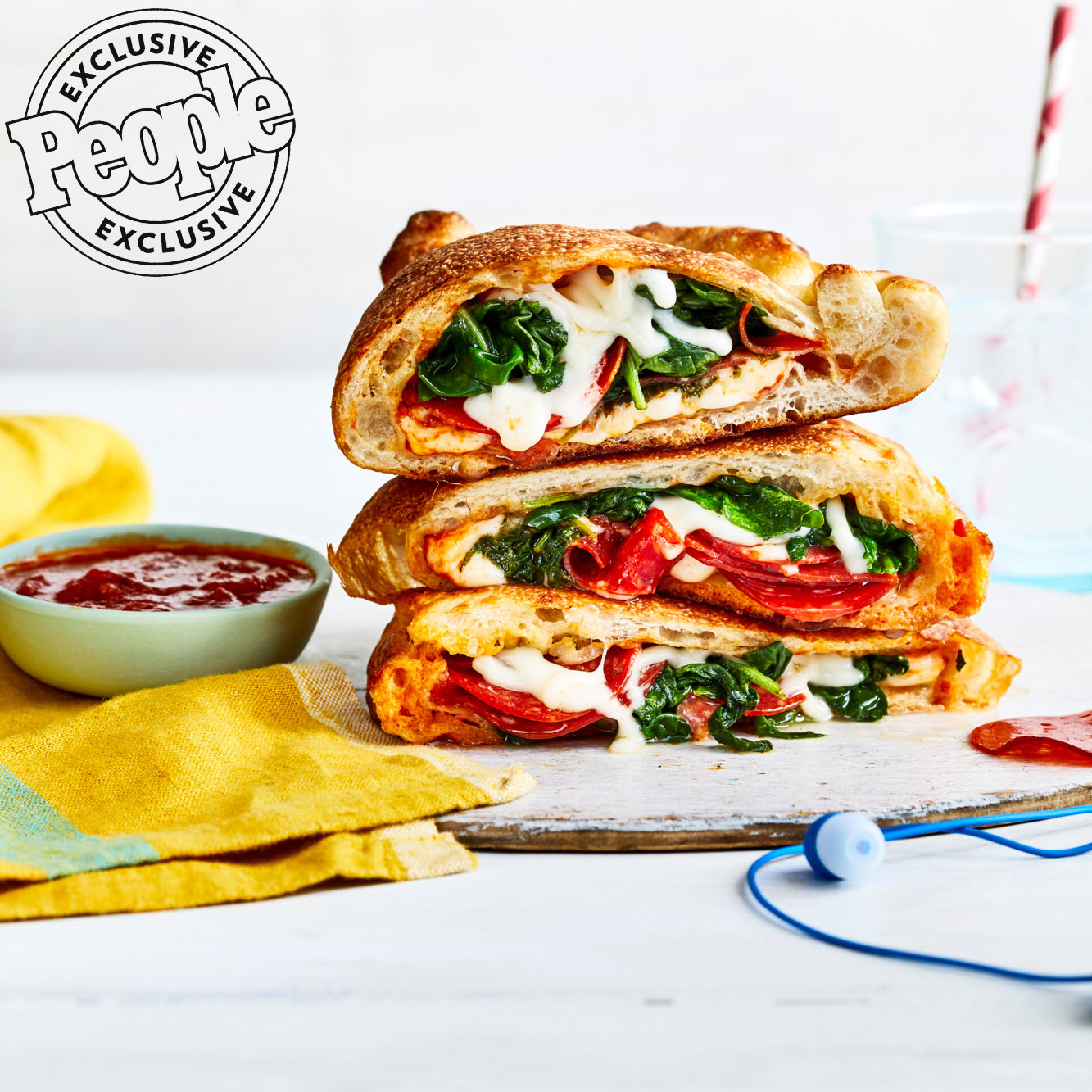 Pepperoni & Spinach Calzones