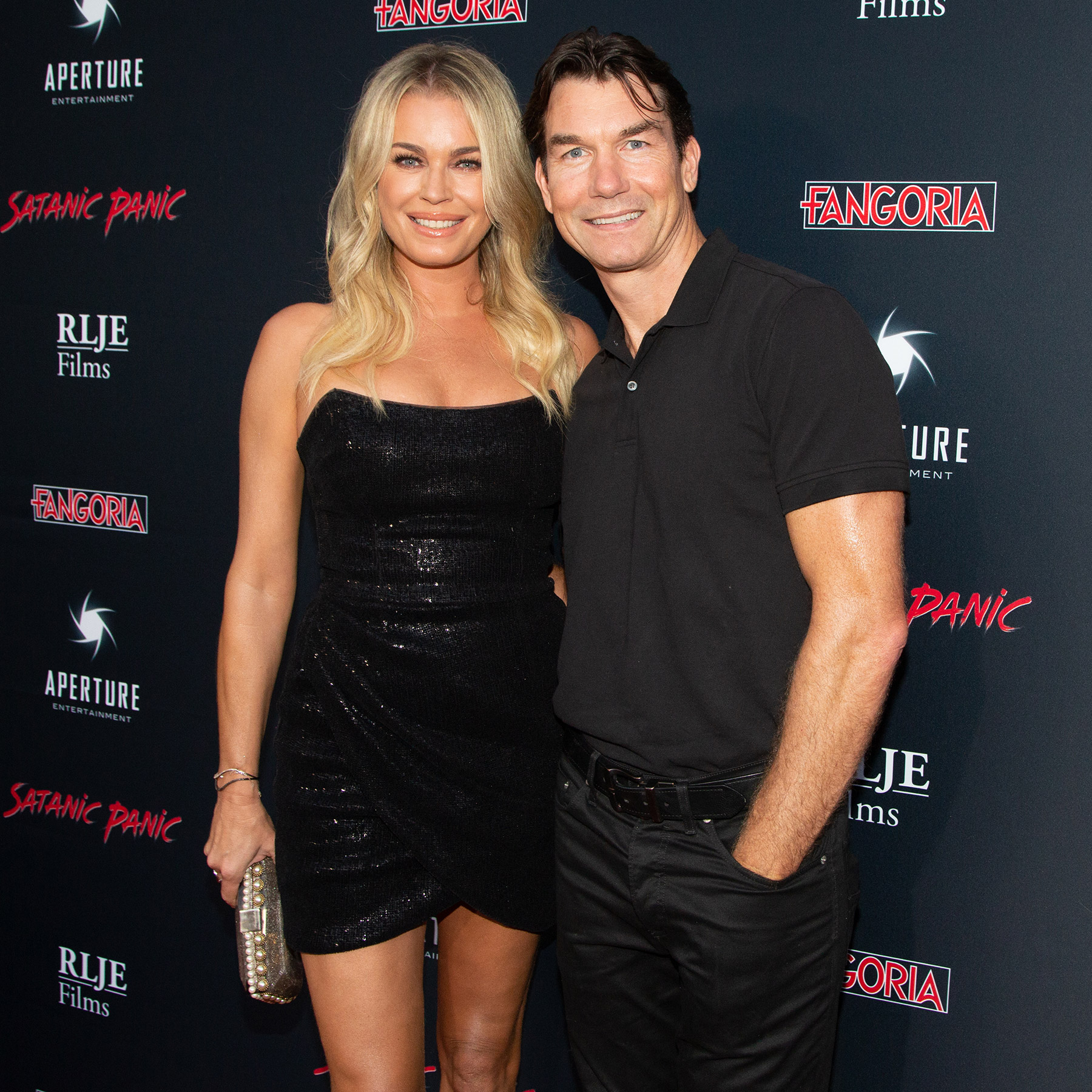 Rebecca Romijn (L) and Jerry O'Connell