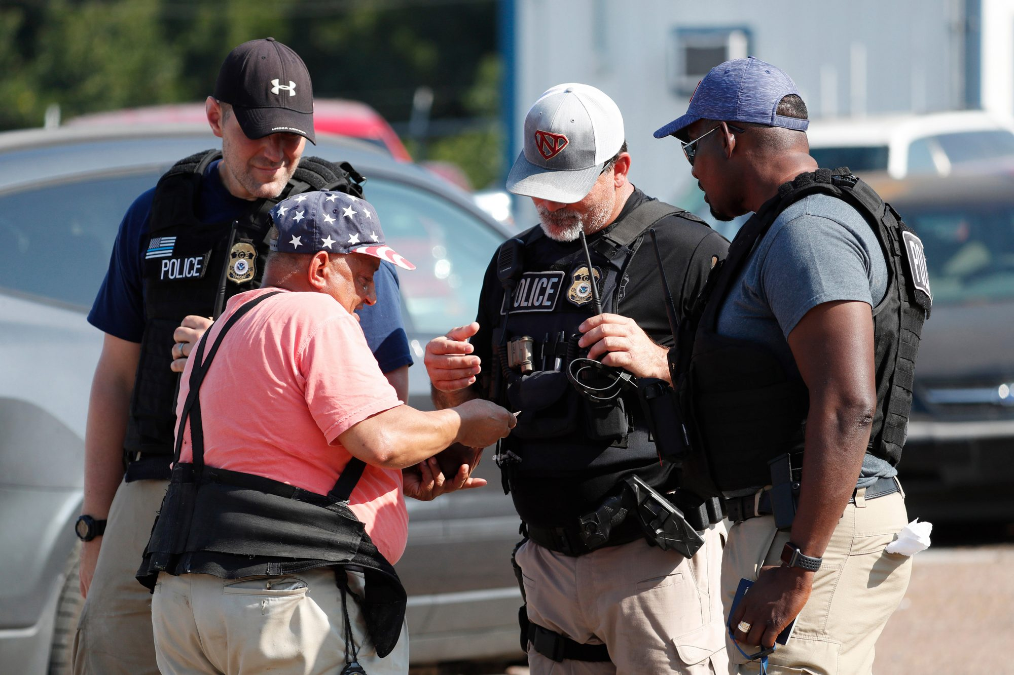 Foods Inc. plant in Morton, Miss., on . U.S. immigration officials raided several Mississippi food processing plants on Wednesday
