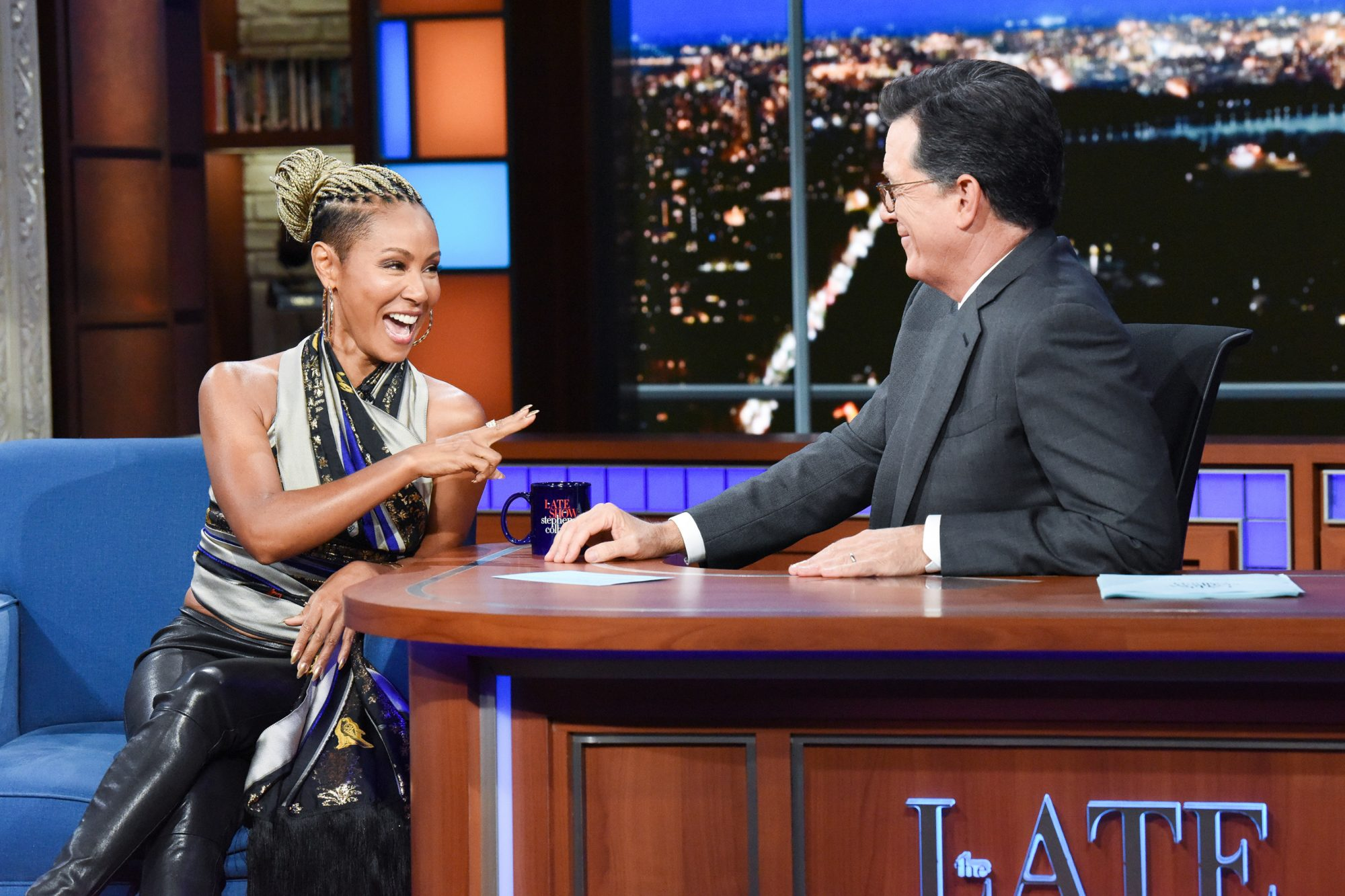 The Late Show with Stephen Colbert and guest Jada Pinkett Smith
