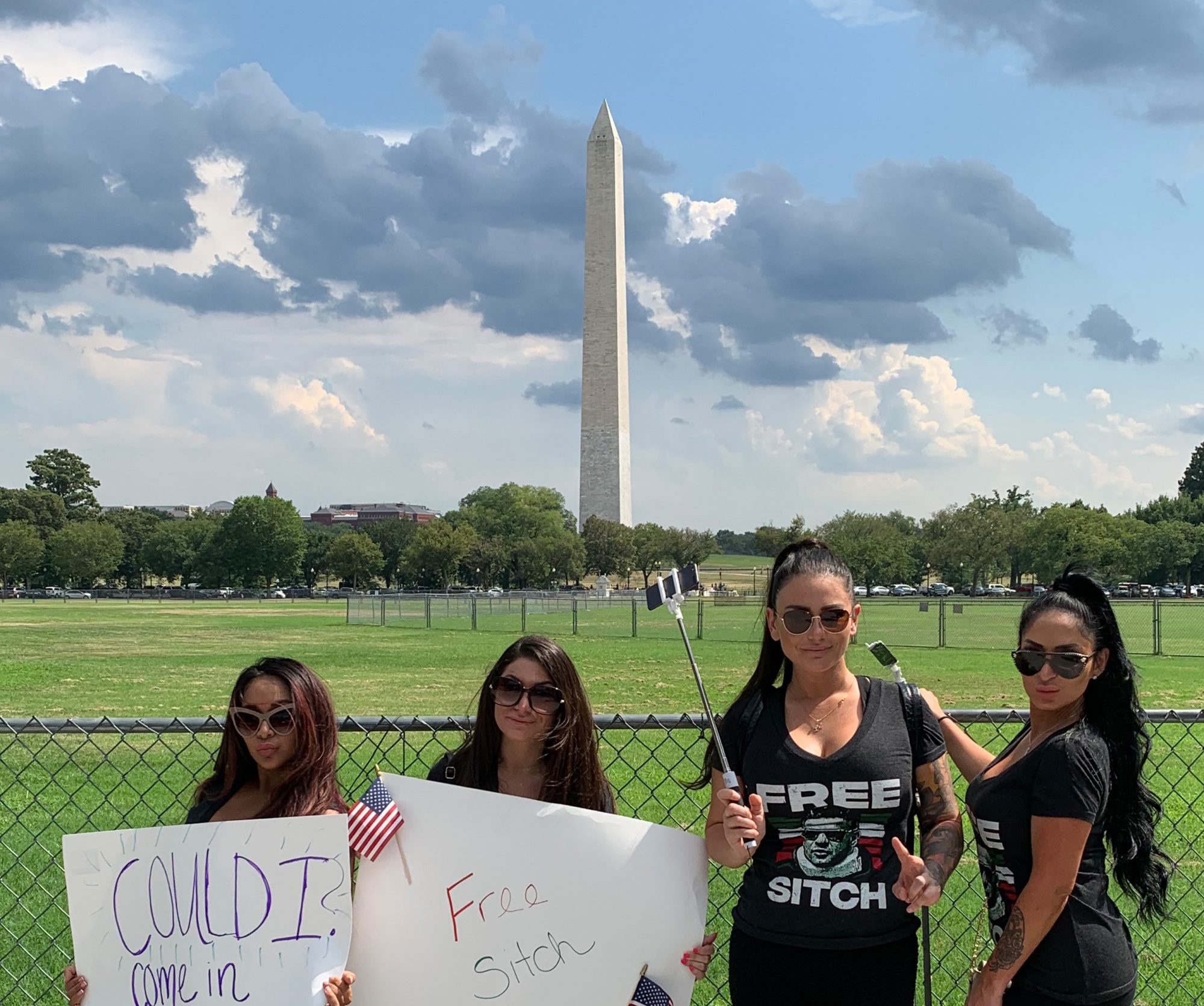 Jersey Shore's JWoww, Snooki, Deena and Angelina Hit D.C. in 'Free Sitch' Campaign