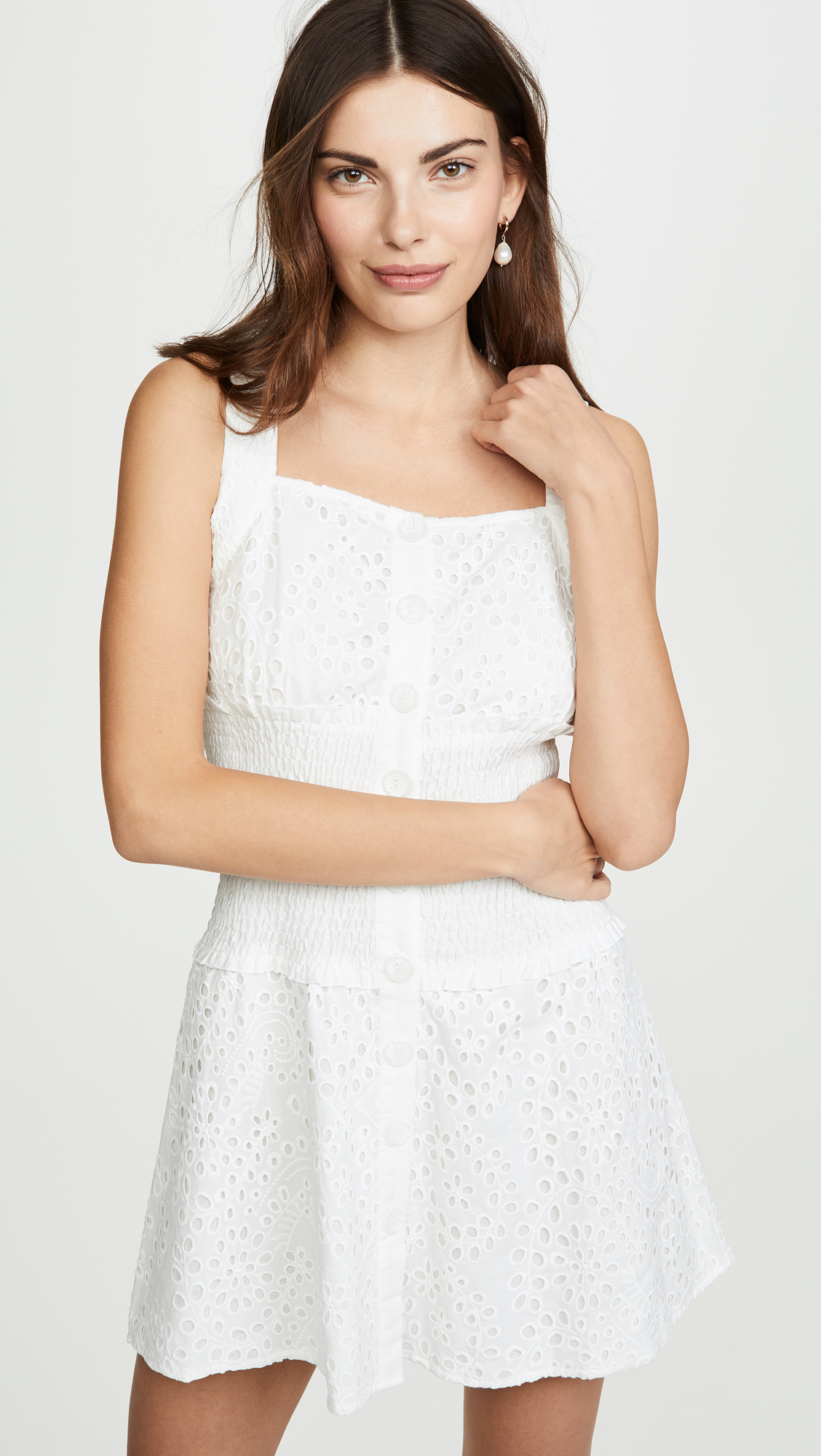 Kendall + Kylie Bronderie Anglaise Eyelet Dress