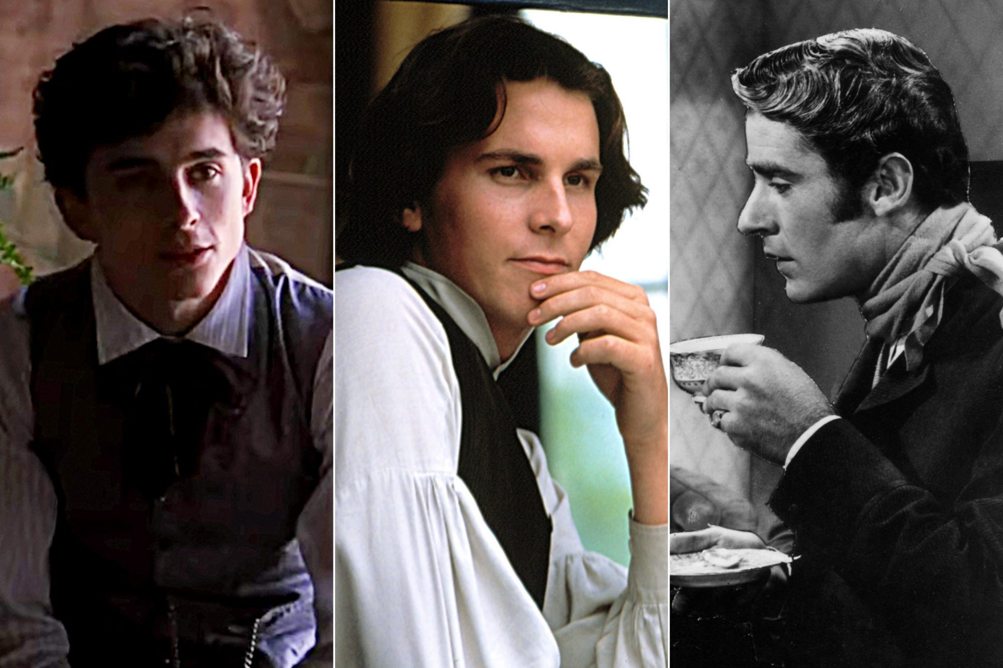"""Timothée Chalamet, Christian Bale and Peter Lawford as Theodore """"Laurie"""" Laurence"""