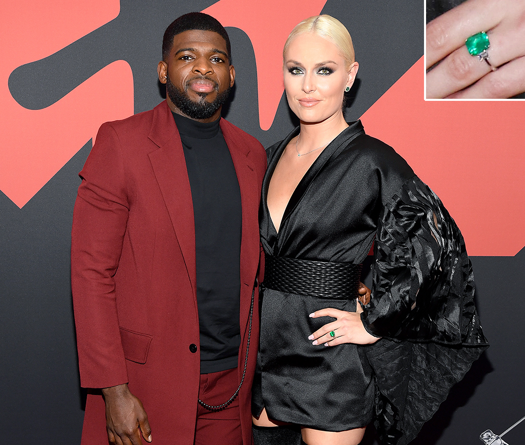 P. K. Subban and Lindsey Vonn