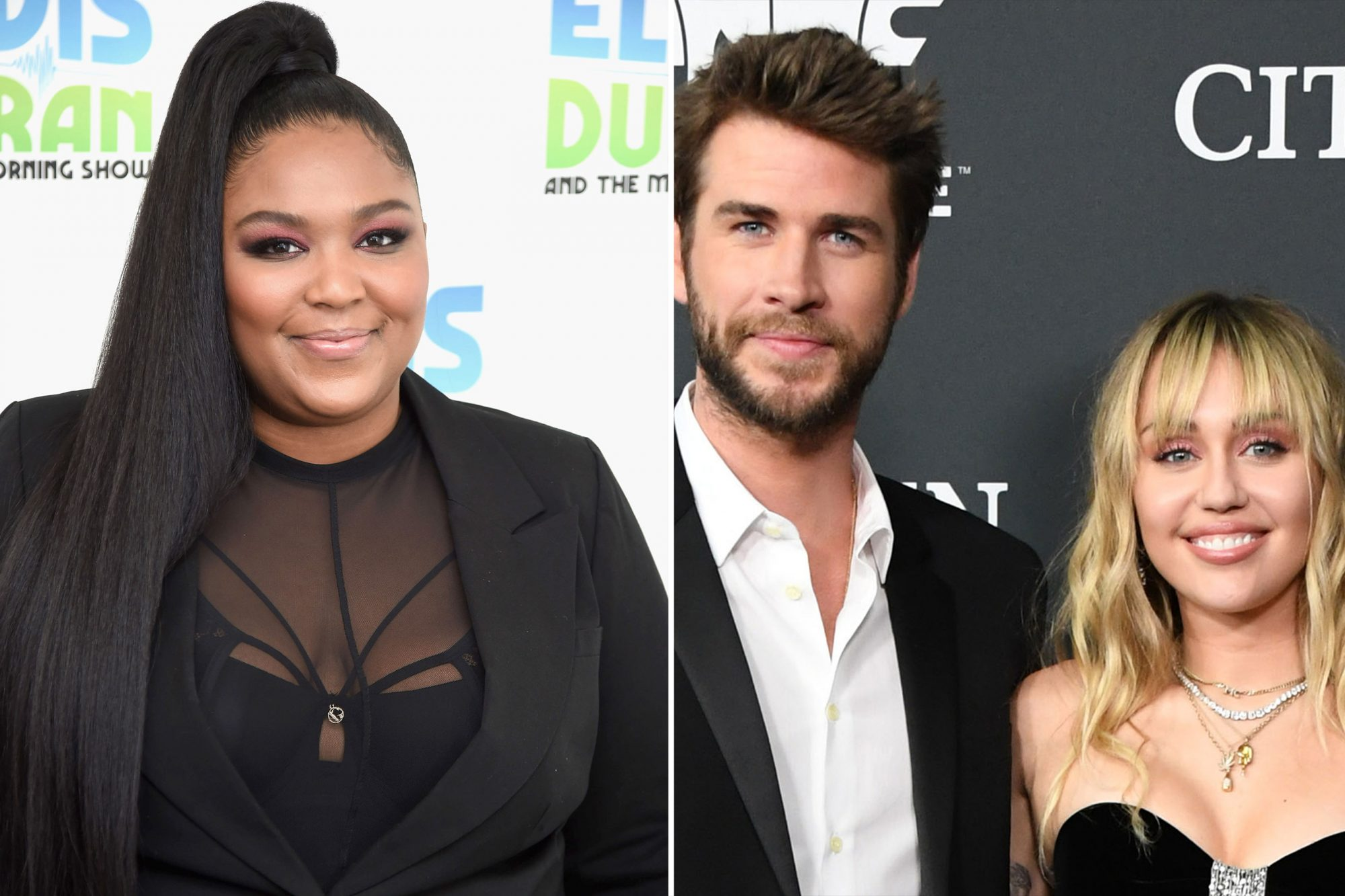 Lizzo, Miley and Liam