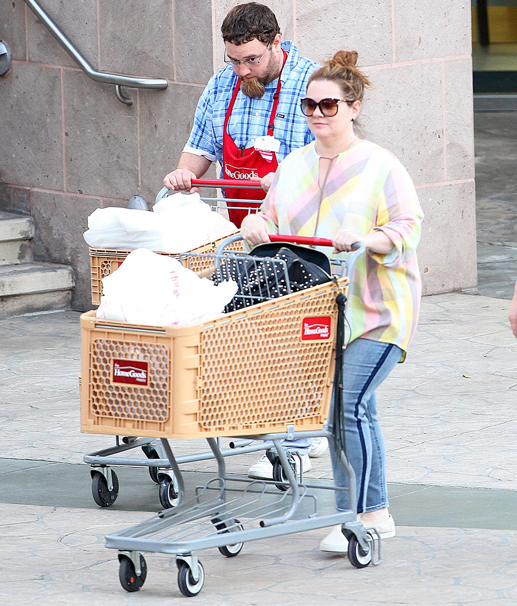 Melissa McCarthy Shops At Home Goods In LA
