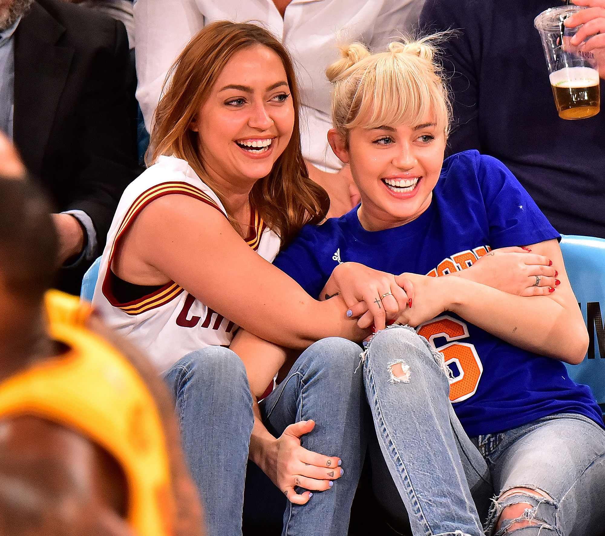 Celebrities Attend The Cleveland Cavaliers Vs New York Knicks Game - March 26, 2016