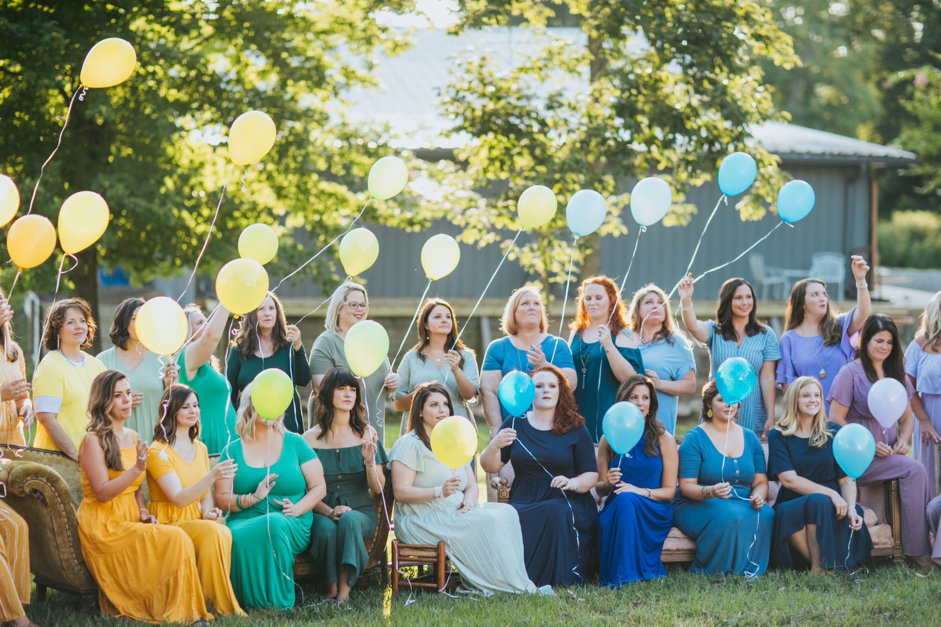 Ashley Sargent took group photos of mothers who gave birth after miscarriages.