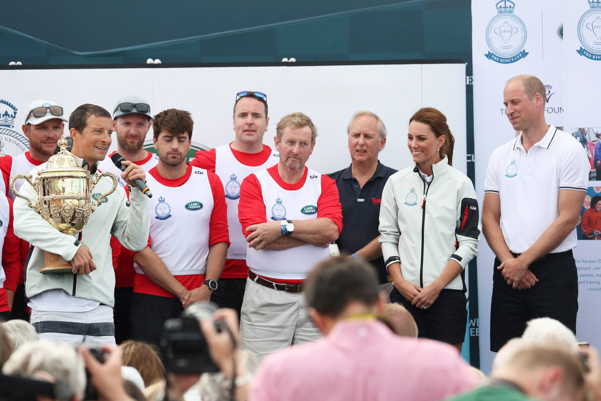Duke of Cambridge and The Duchess Catherine William King's Cup Regatta