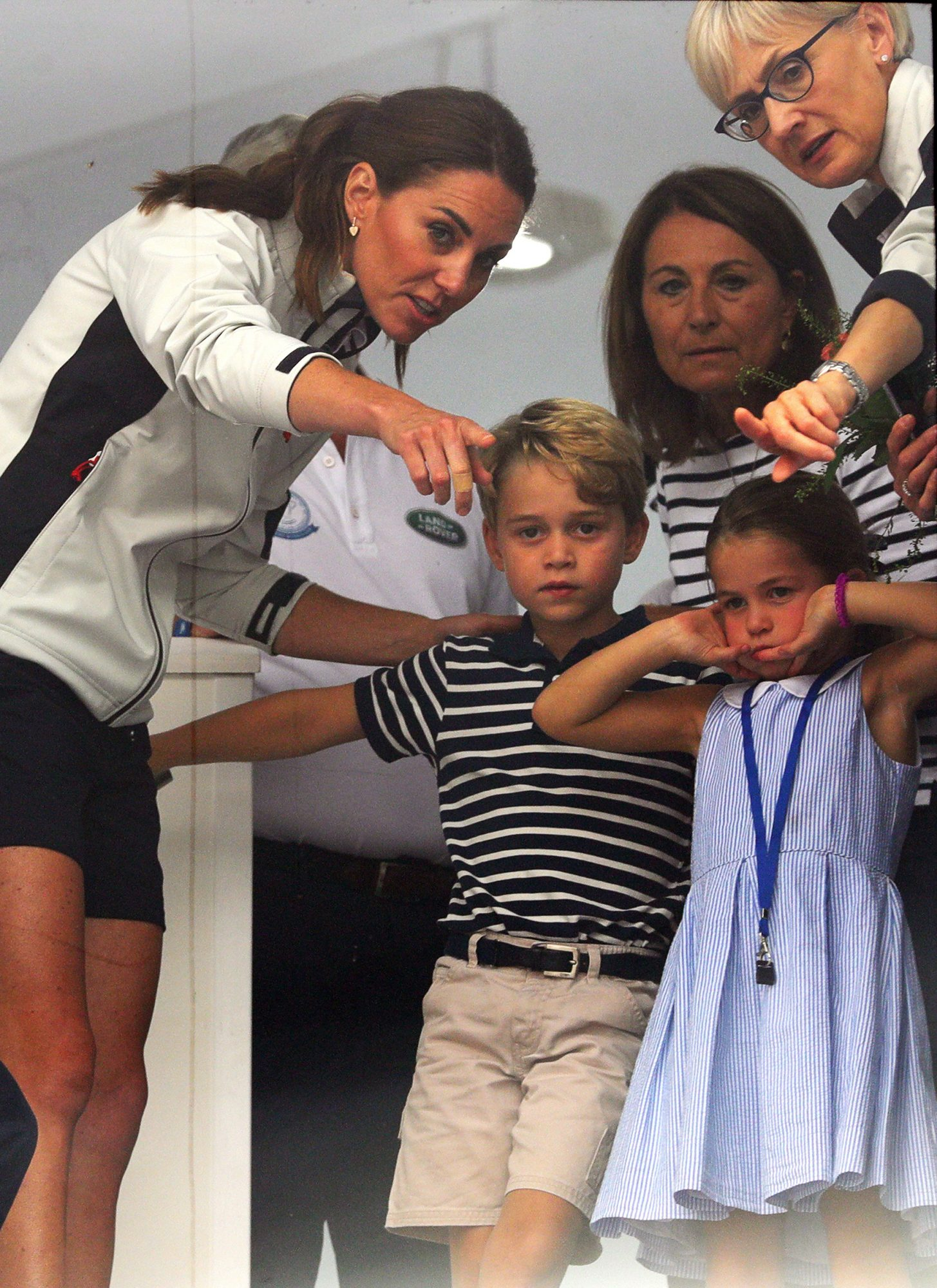 Catherine, Duchess of Cambridge and Prince William, Duke of Cambridge during the inaugural King's Cup