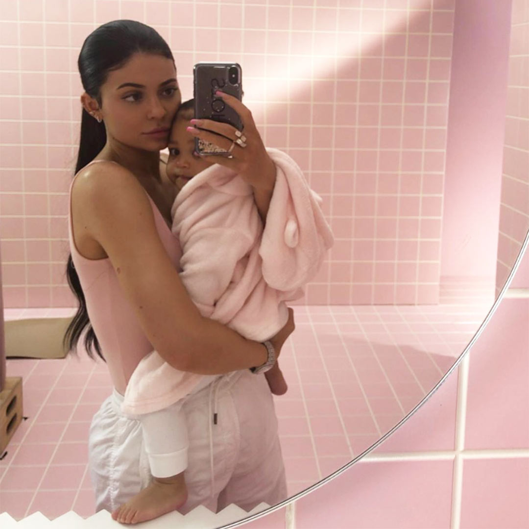 Kylie and Stormi