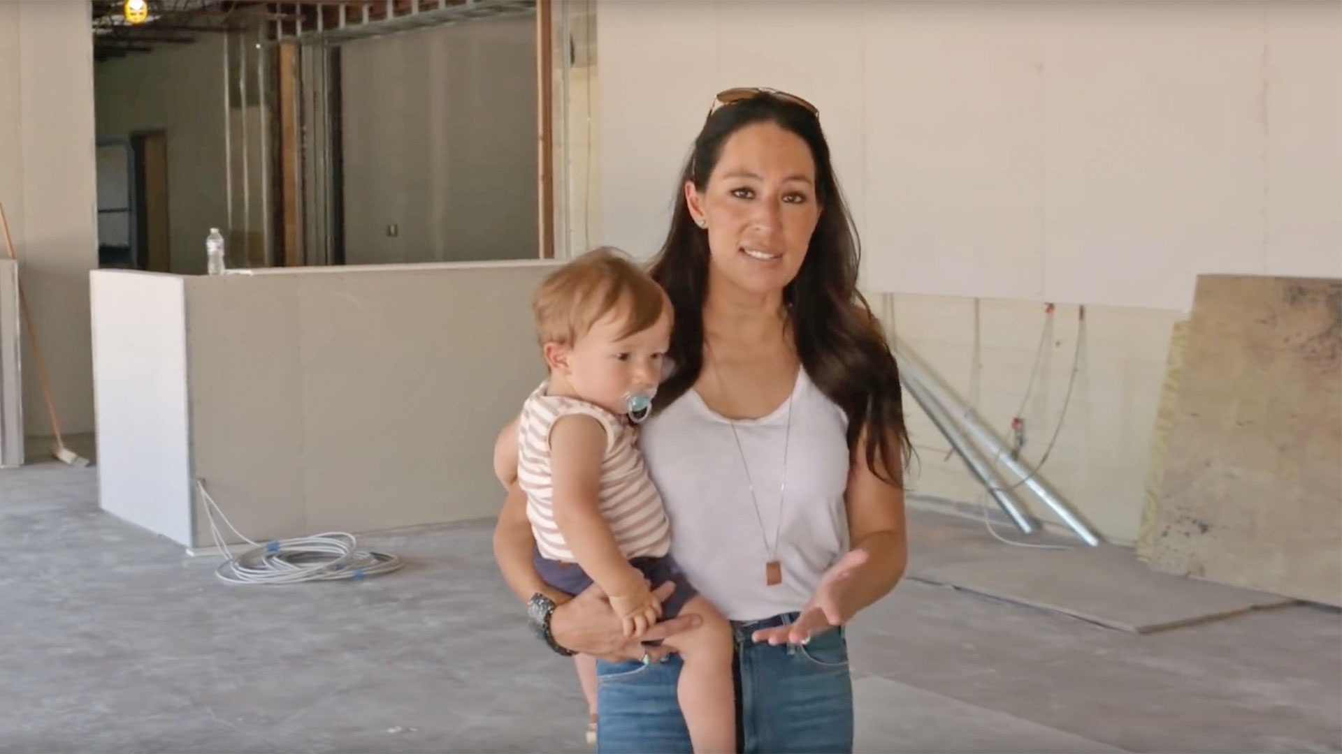 Joanna Gaines and son