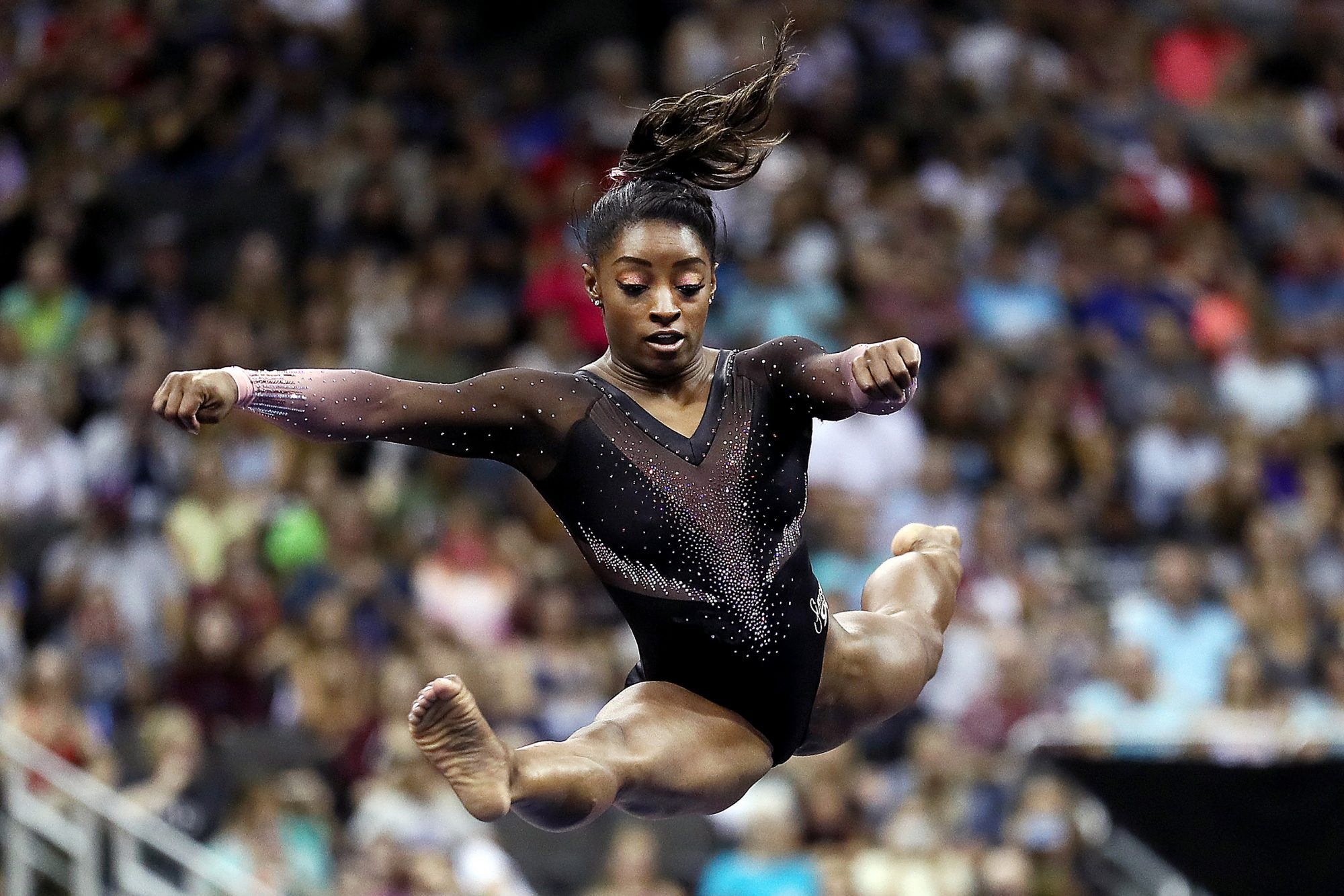 Simone Biles Lands Historic Triple-Double