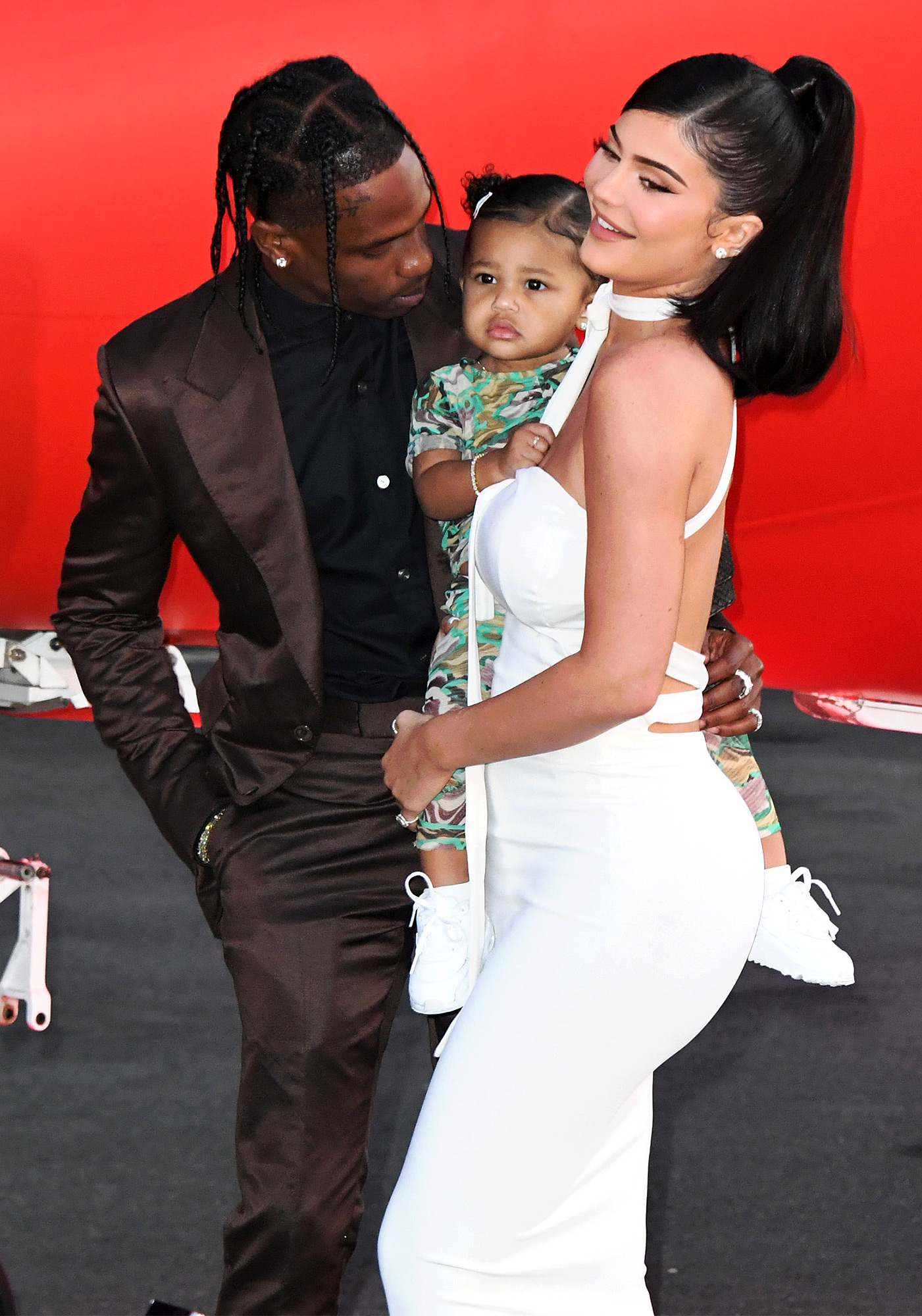 Travis Scott, Stormi Webster and Kylie Jenner