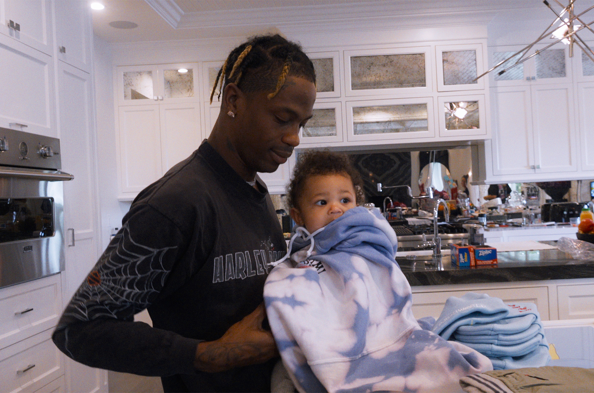 "Travis Scott "" Look Mom I Can Fly"" on Netflix."