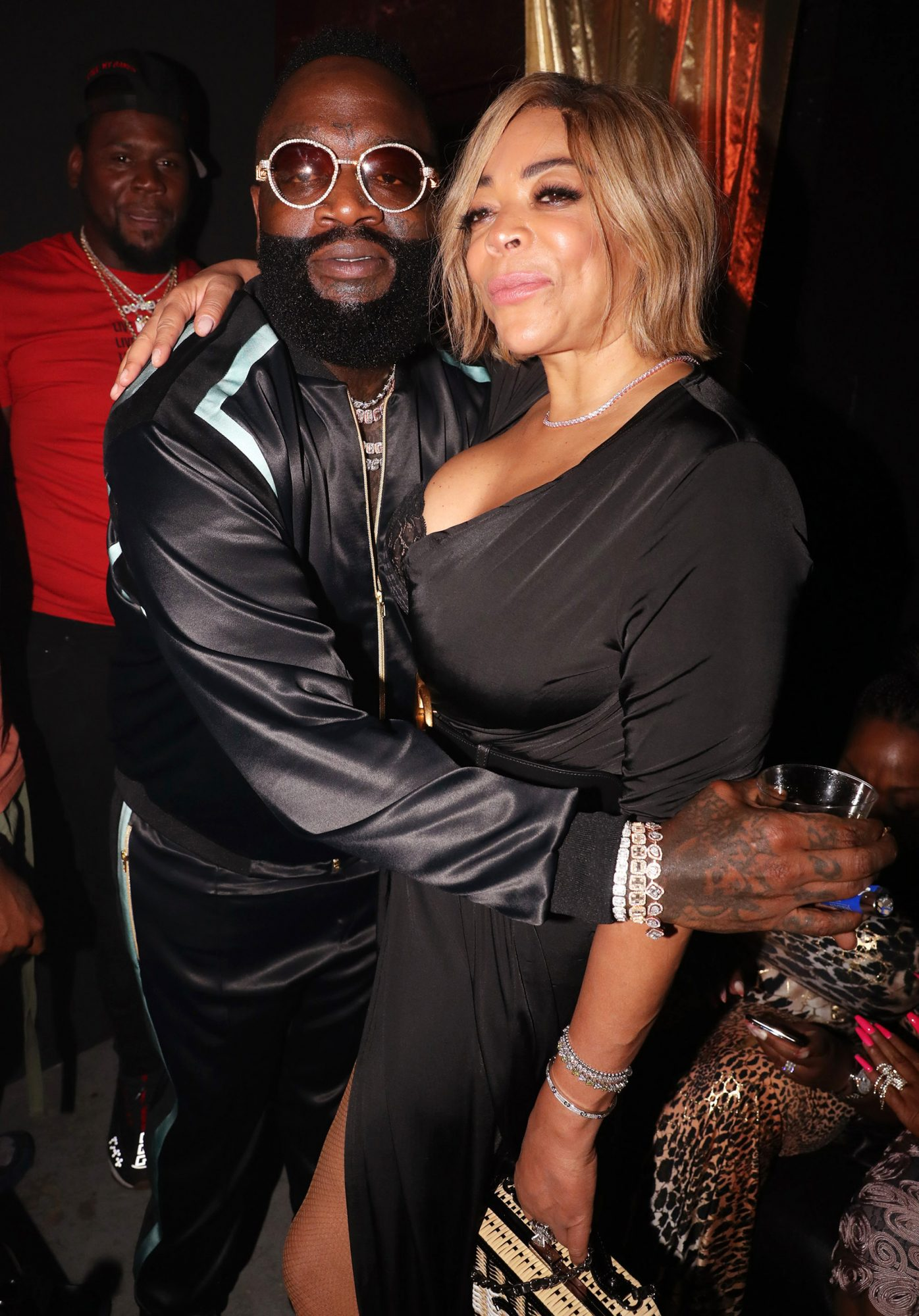 Rick Ross (L) and Wendy Williams