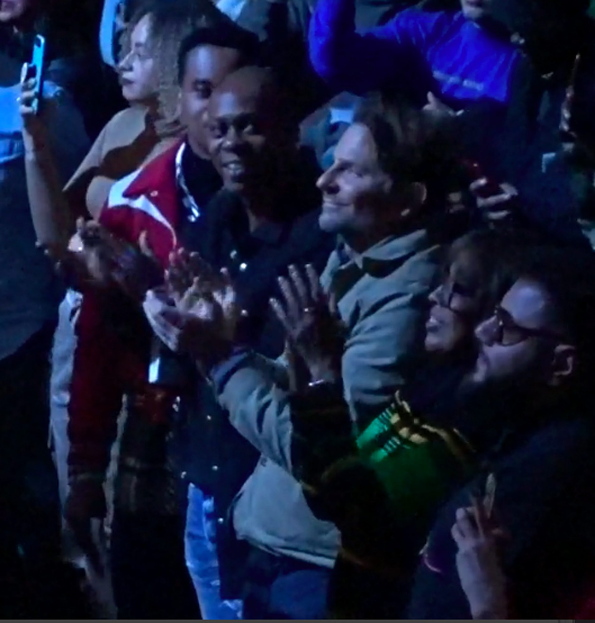 Dave Chappelle, Bradley Cooper, Gayle King, and Patrick Toussaint at Kanye Sunday Service