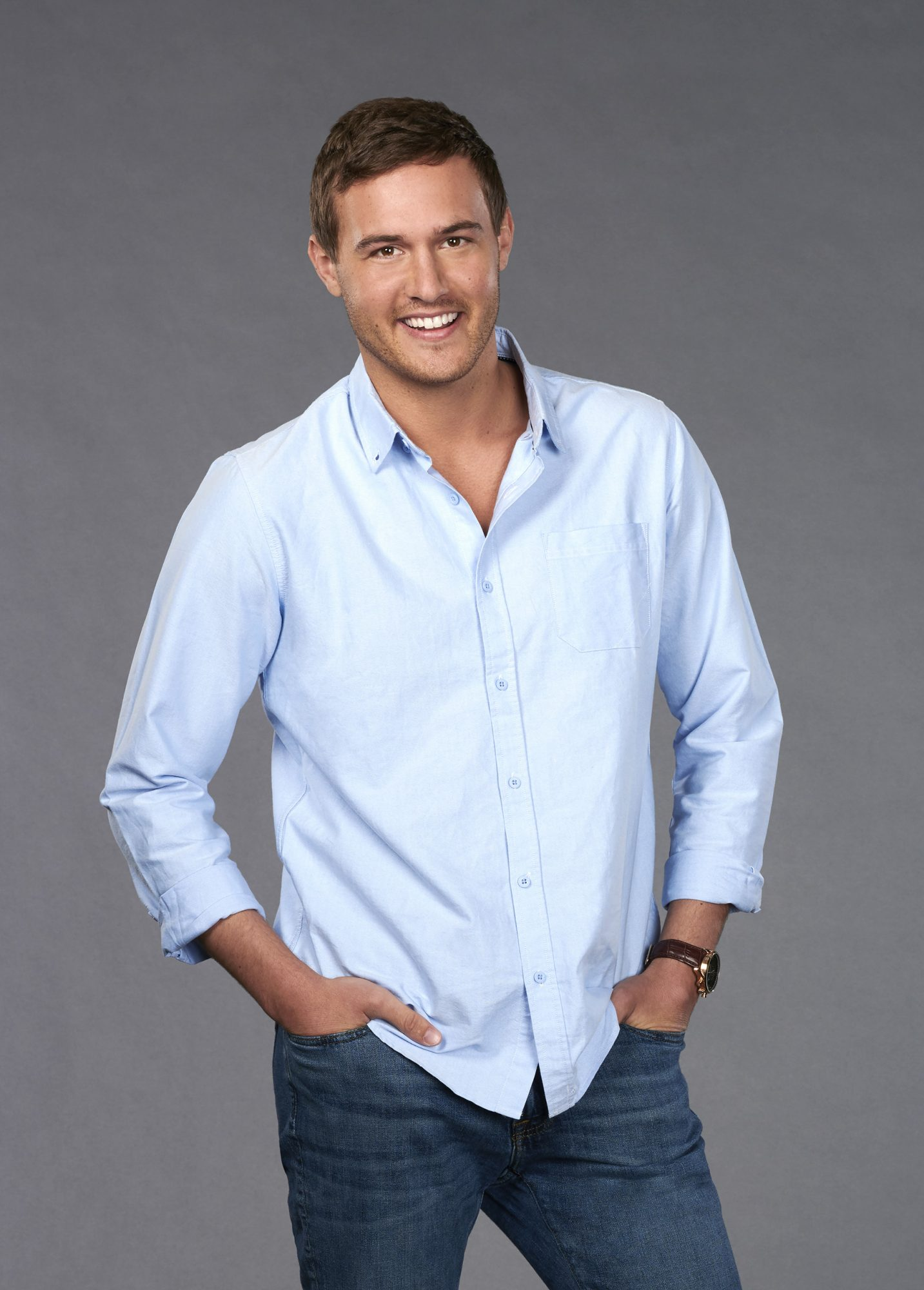 "THE BACHELORETTE - Hannah Brown caught the eye of Colton Underwood early on during the 23rd season of ""The Bachelor,"" showing him, and all of America, what Alabama Hannah is made of - a fun country girl who is unapologetically herself. After being sent home unexpectedly, Hannah took the time to reflect on her breakup, gaining a powerful understanding of her desire to be deeply and fiercely loved. Now, with a newfound sense of self and a little southern charm, she is more ready than ever to find her true love on the milestone 15th season of ""The Bachelorette."" (ABC/Ed Herrera) PETER"