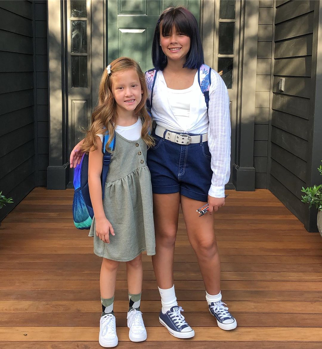 Jessica Alba's daughters first day of school