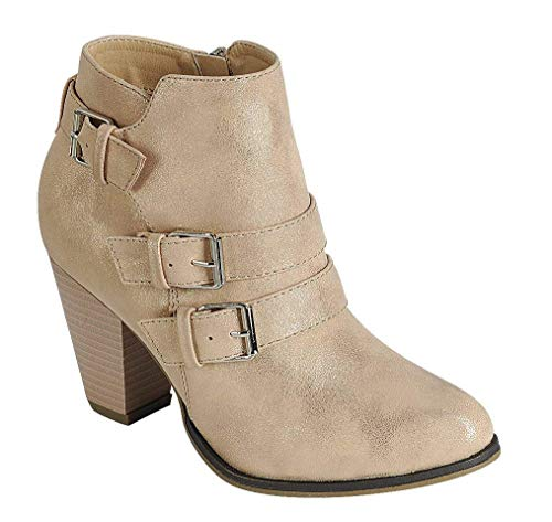 Forever Women's Three Buckle Bootie