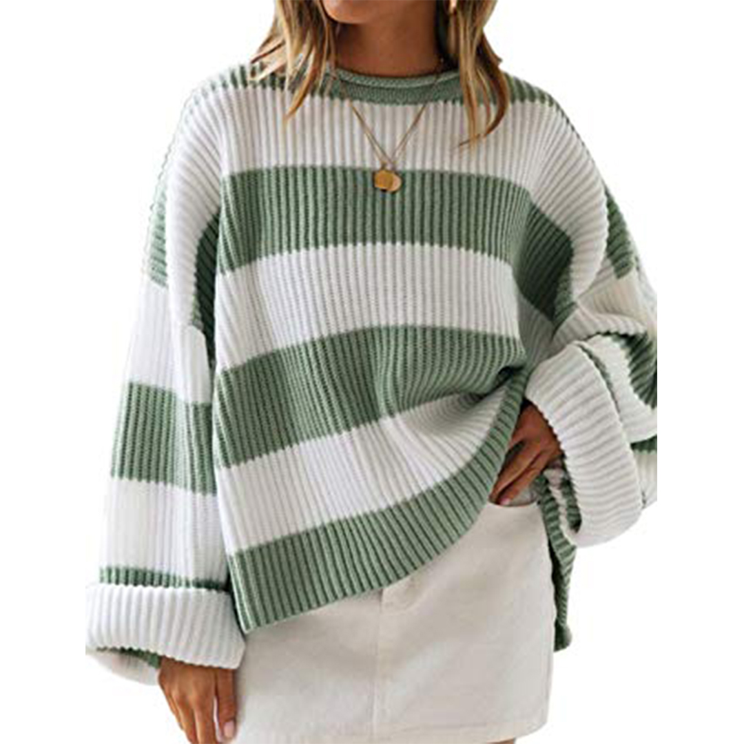 Leani Women's Striped Oversized Sweater
