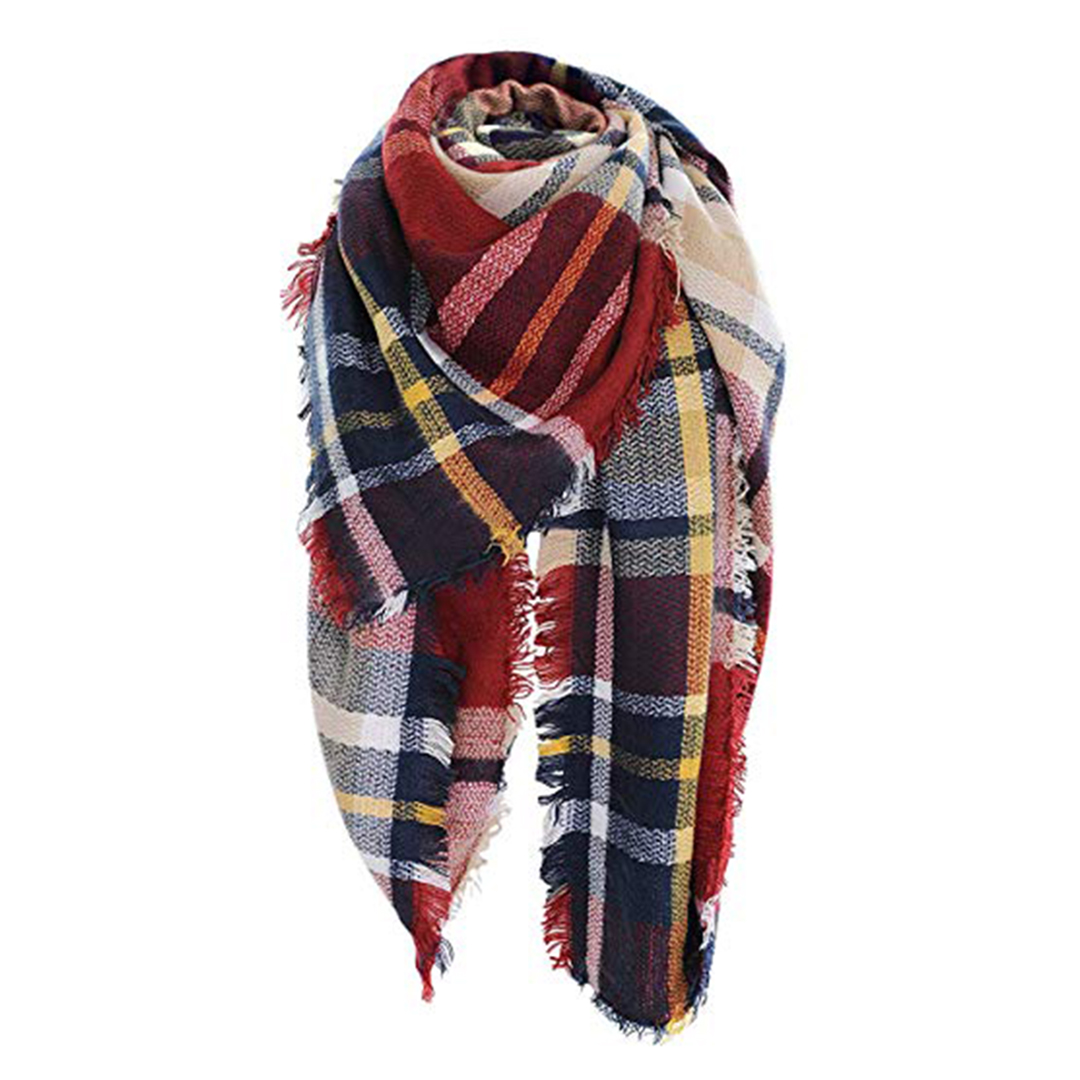 Poseshe Plaid Blanket Scarf
