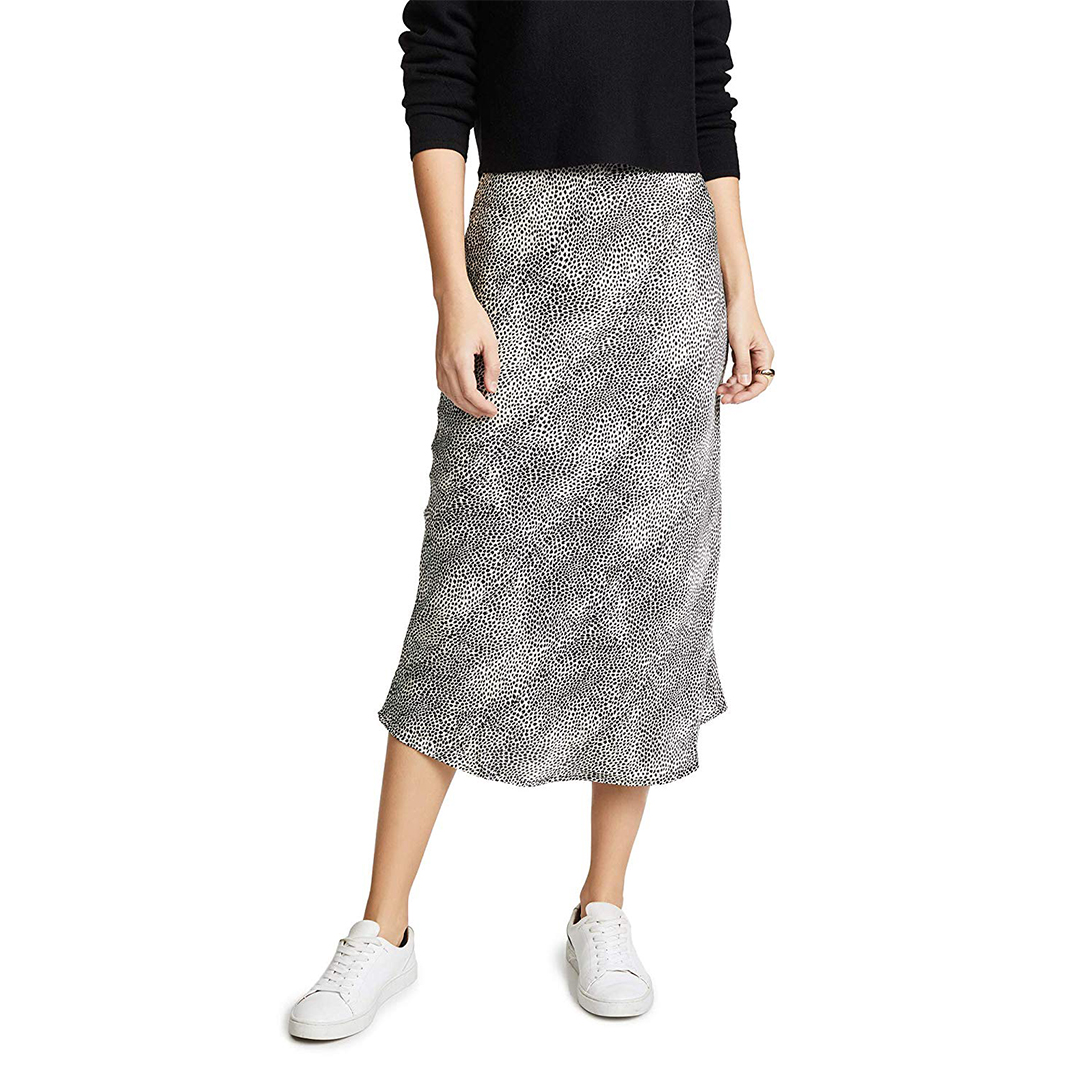 Re:named Women's Leopard Midi Skirt