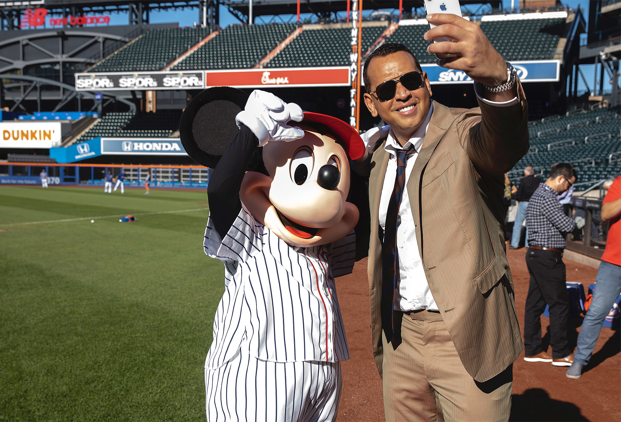 Mickey Mouse and Alex Rodriguez
