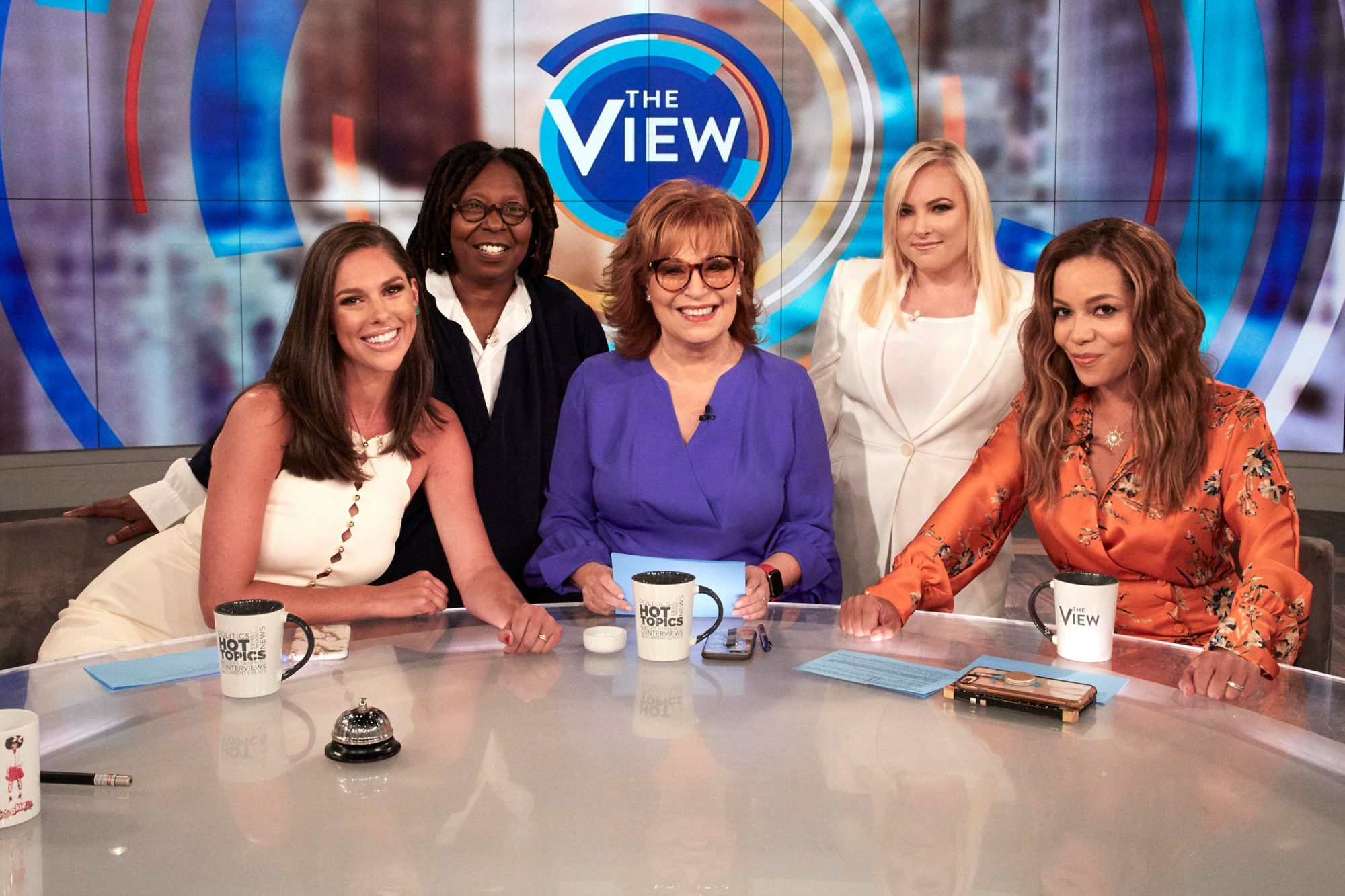 "THE VIEW - 9/3/19 Season 23 of ABC's ""The View"" begins Tuesday, September 3, 2019. ""The View"" airs Monday-Friday (11am-12 noon, ET) on ABC. VW19 (Walt Disney Television/Heidi Gutman) SUNNY HOSTIN, WHOOPI GOLDBERG, JOY BEHAR, MEGHAN MCCAIN, SUNNY HOSTIN"