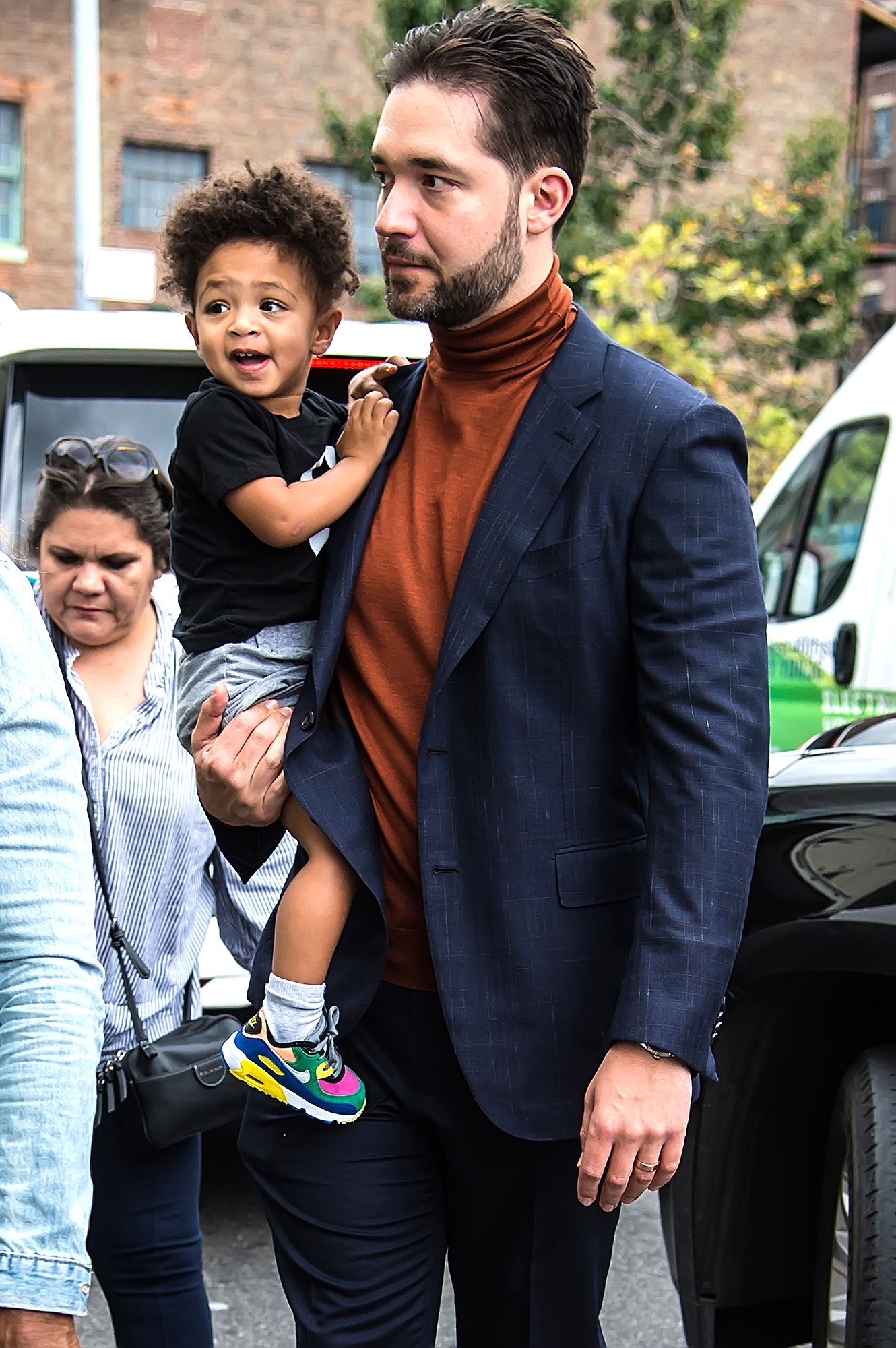 Alexis Ohanian (R) and daughter Alexis Olympia Ohanian Jr.
