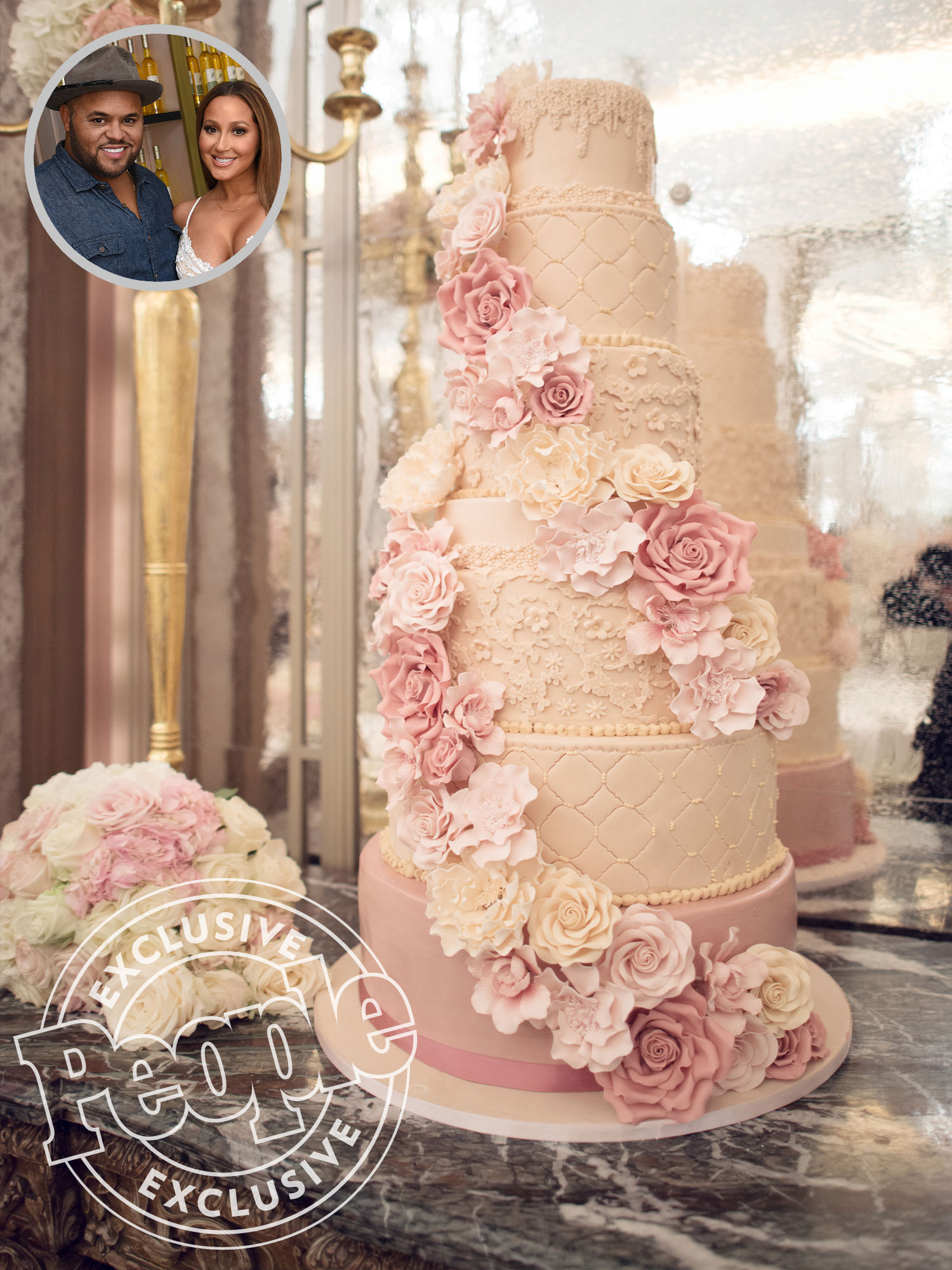 Adrienne Bailon and Israel Houghton Cake