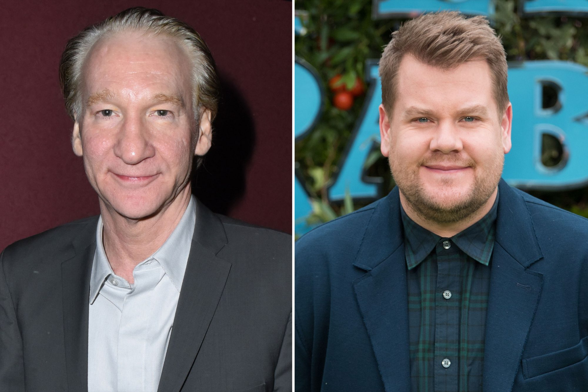 Bill Maher and James Corden
