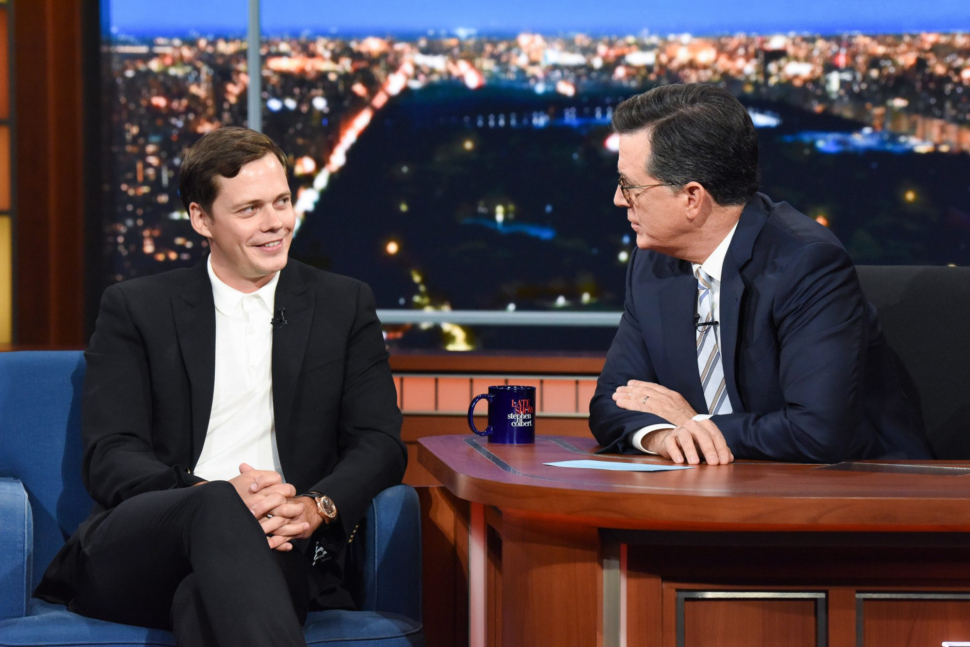The Late Show with Stephen Colbert and guest Bill Skarsgård