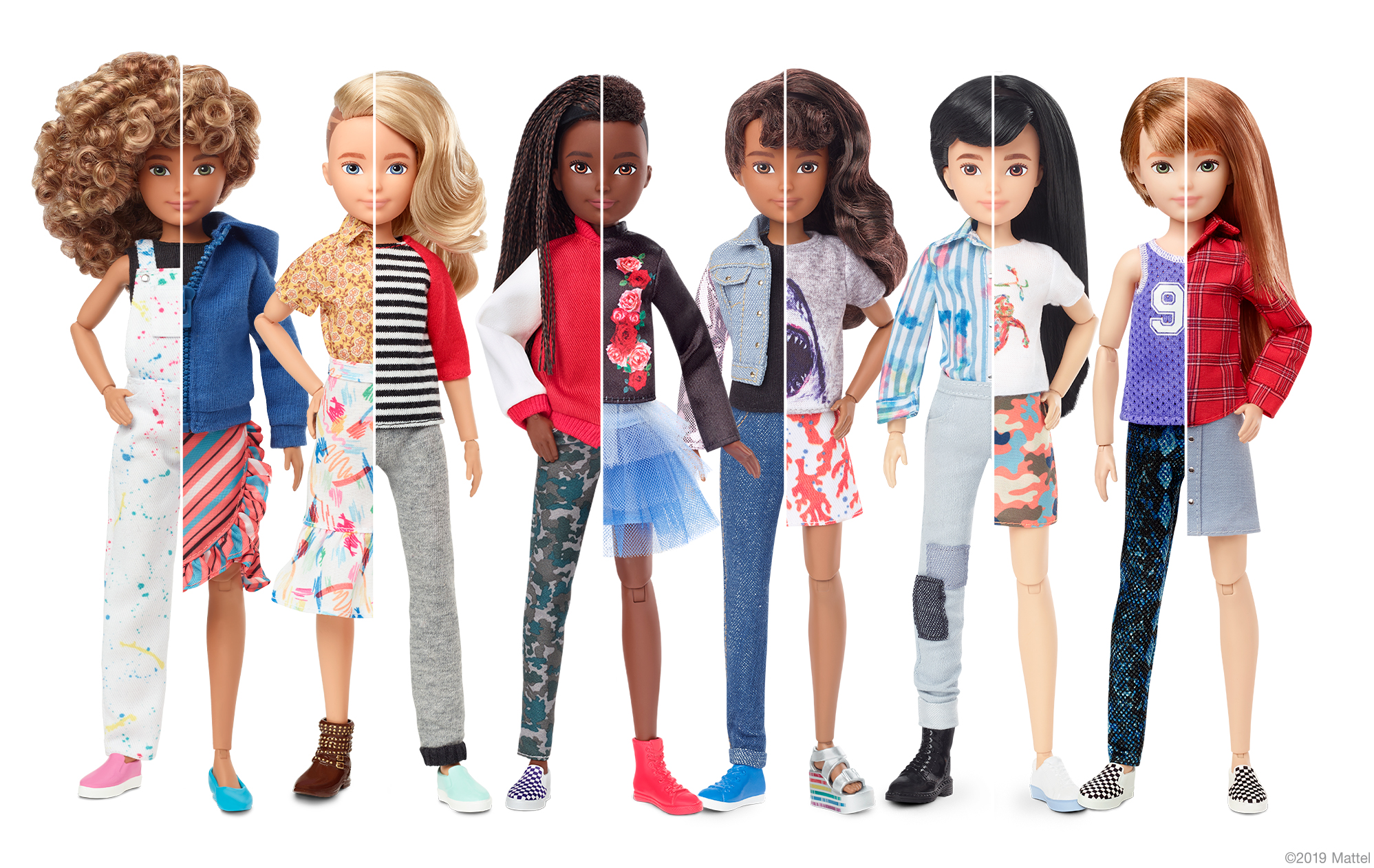 Mattel Just Launched Gender-Neutral Doll Line Allowing 'All Kids to Express Themselves Freely'